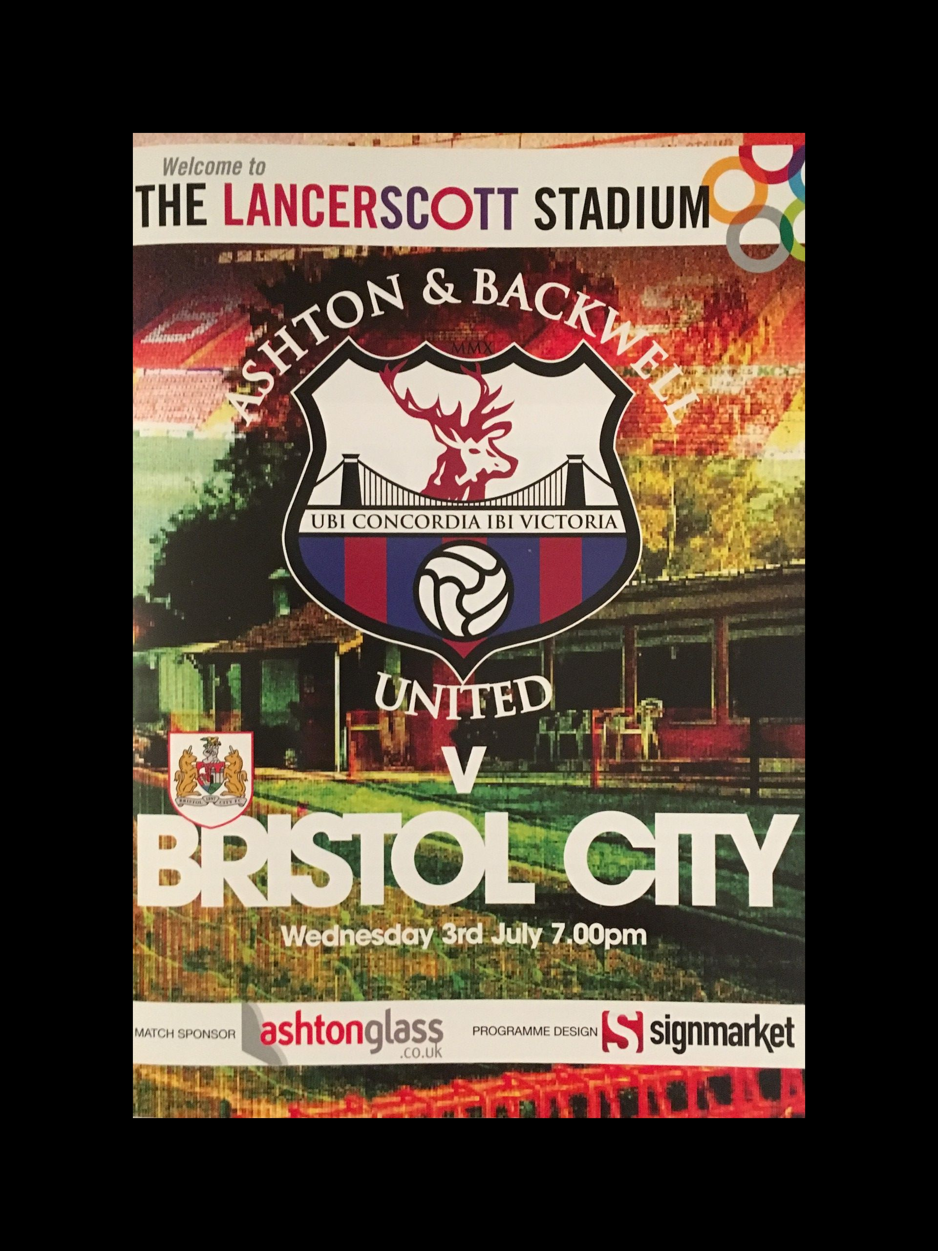 Ashton & Backwell v Bristol City 03-07-2013 Programme