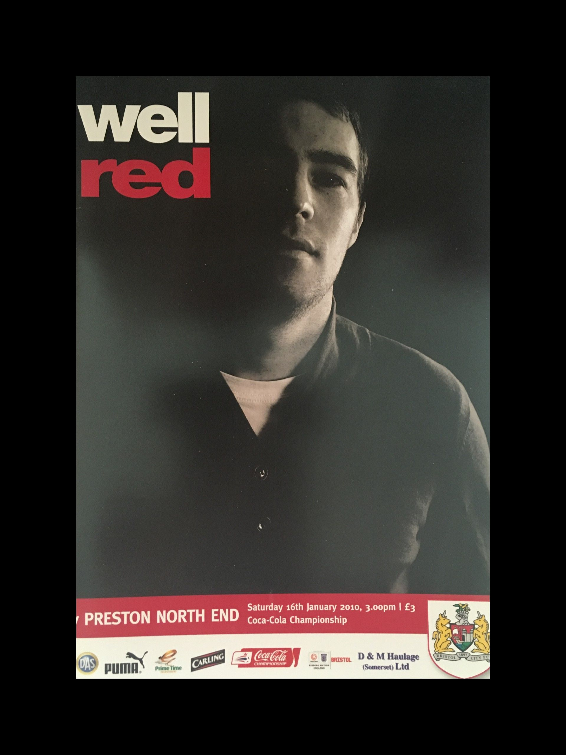 Bristol City v Preston North End 16-01-2010 Programme