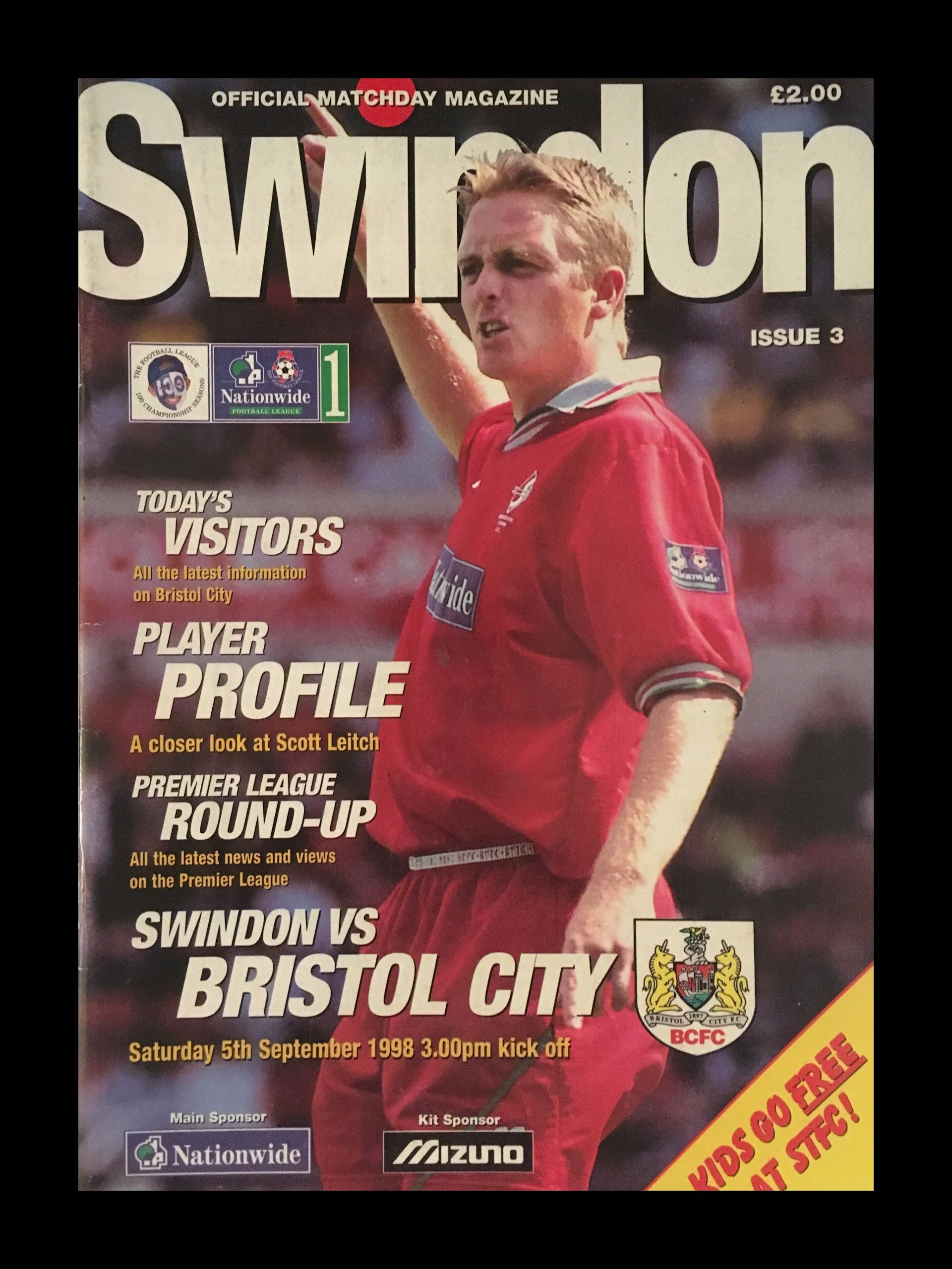 Swindon Town v Bristol City 05-09-1998 Programme