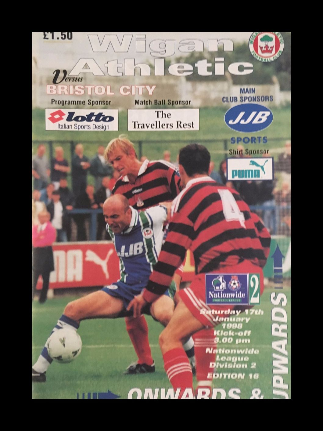 Wigan Athletic v Bristol City 17-01-1998 Programme