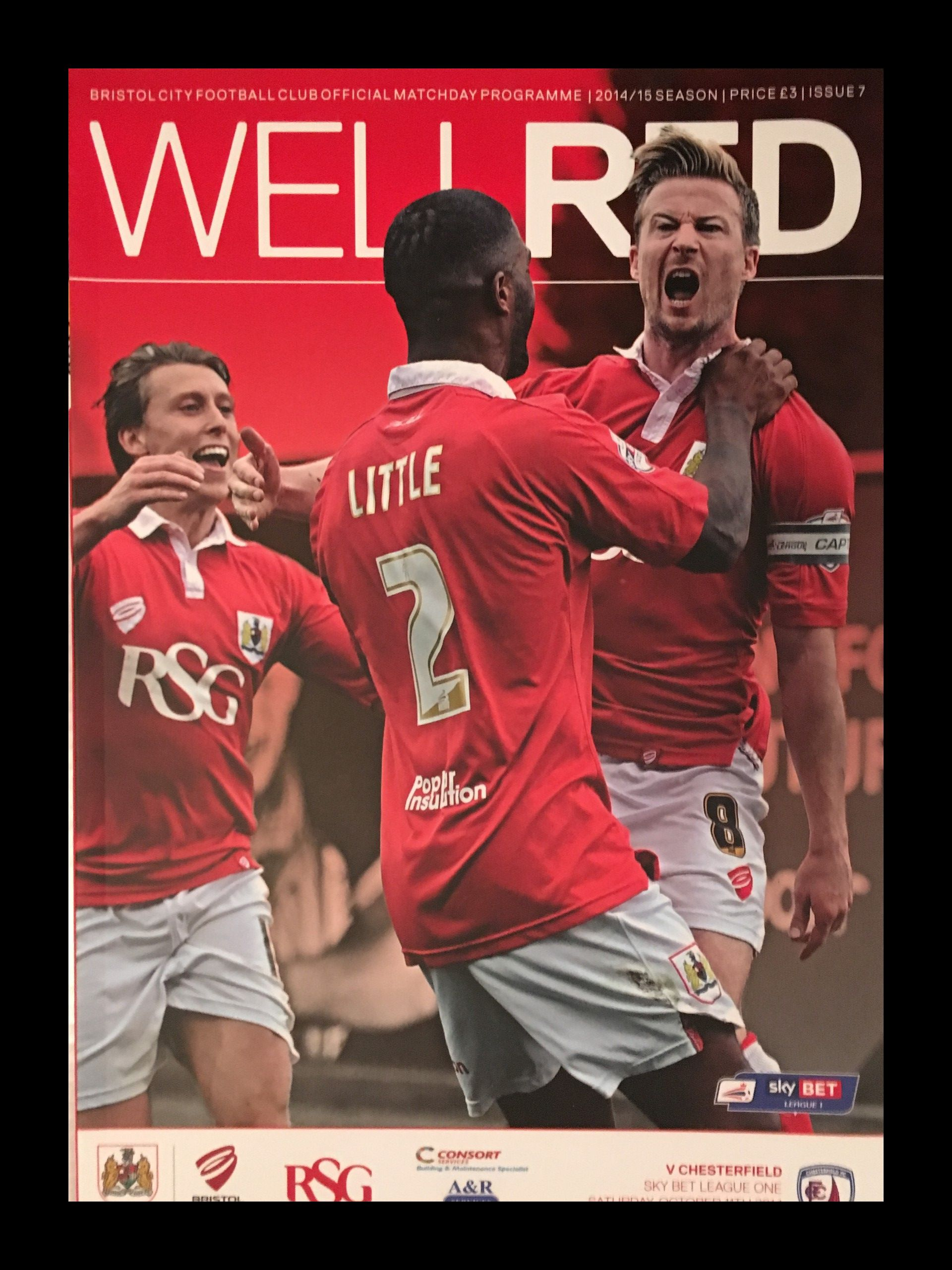 Bristol City v Chesterfield 11-10-2014 Programme