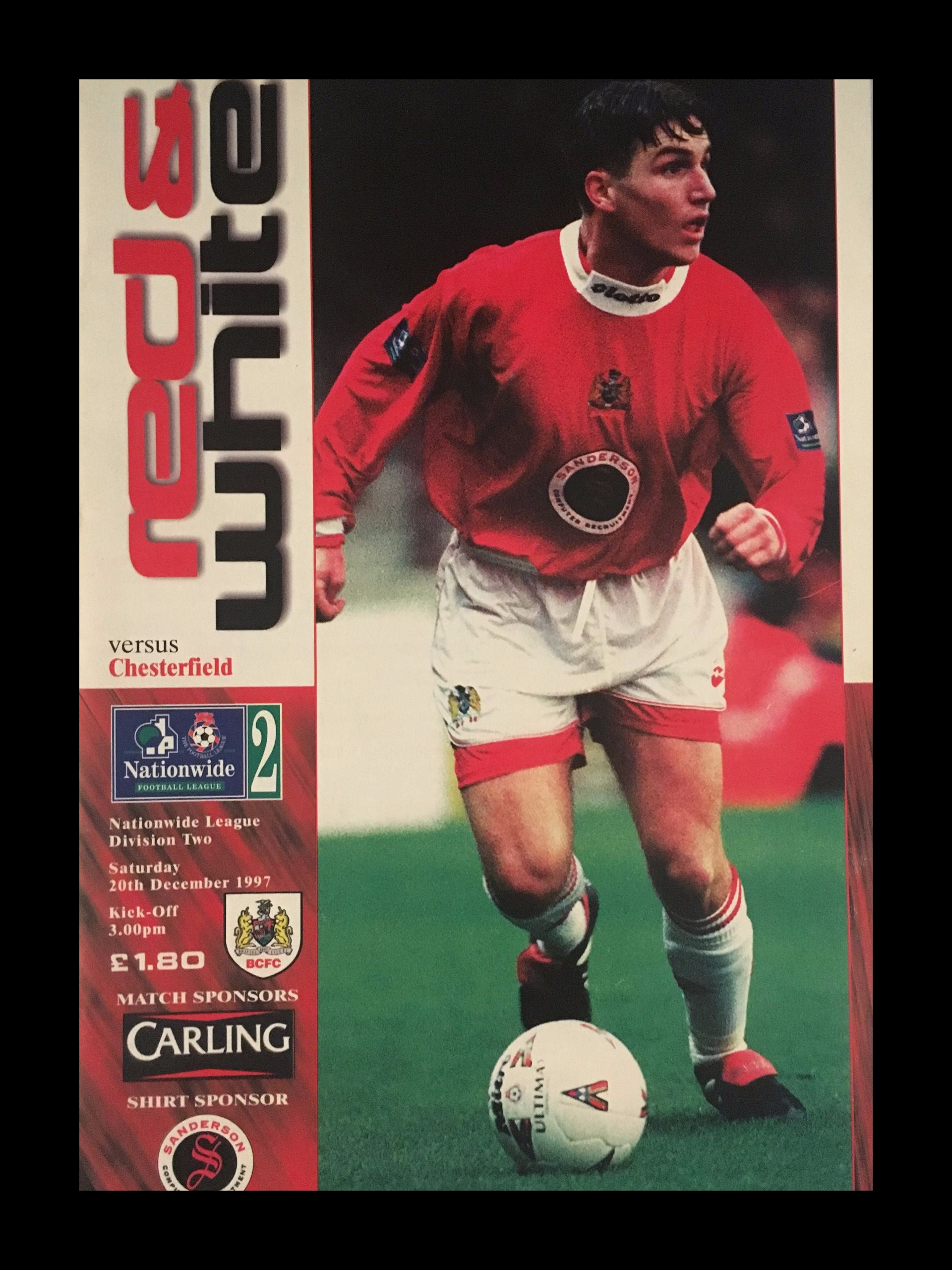 Bristol City v Chesterfield 20-12-1997 Programme