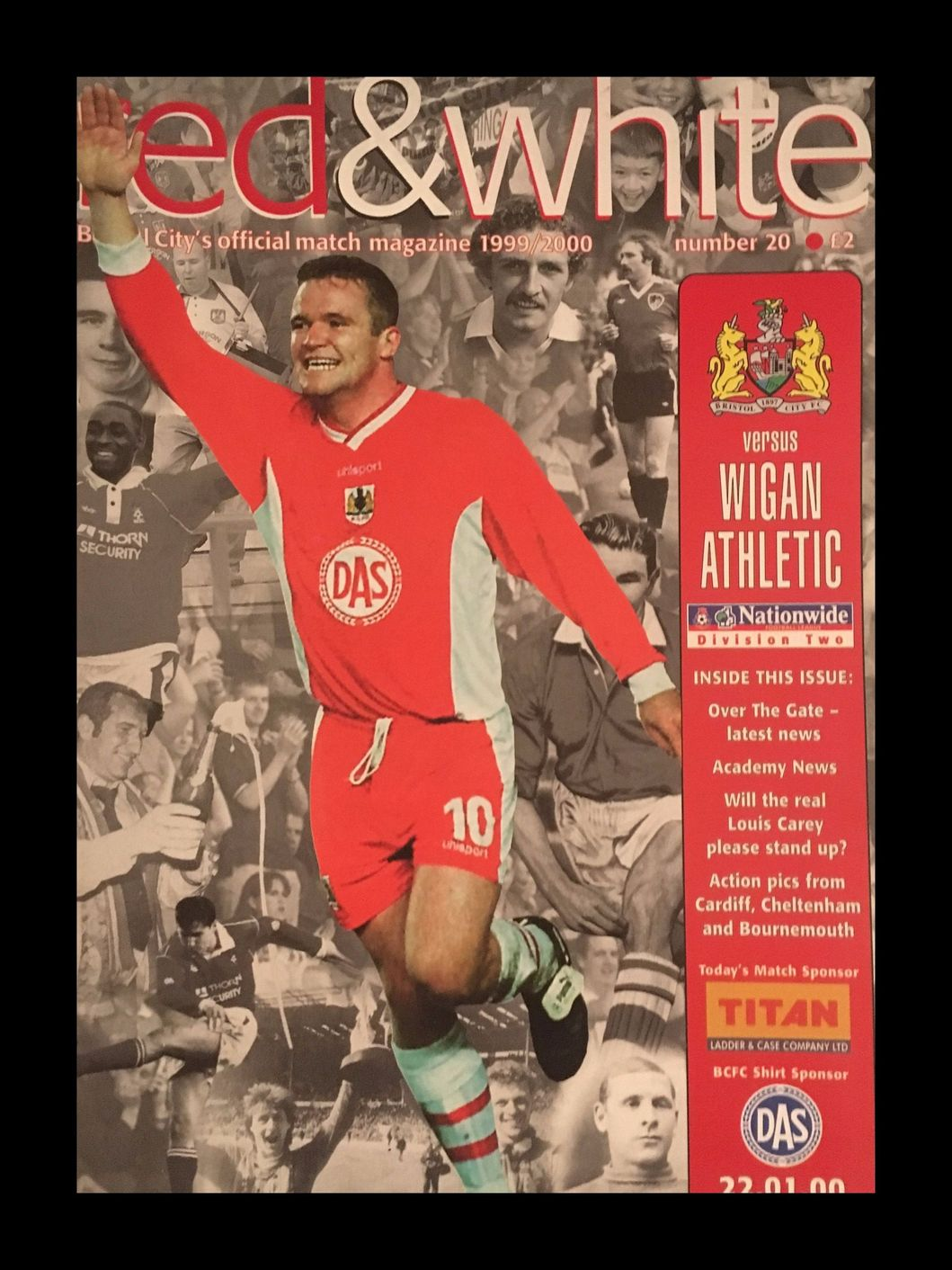 Bristol City v Wigan Athletic 22-01-2000 Programme