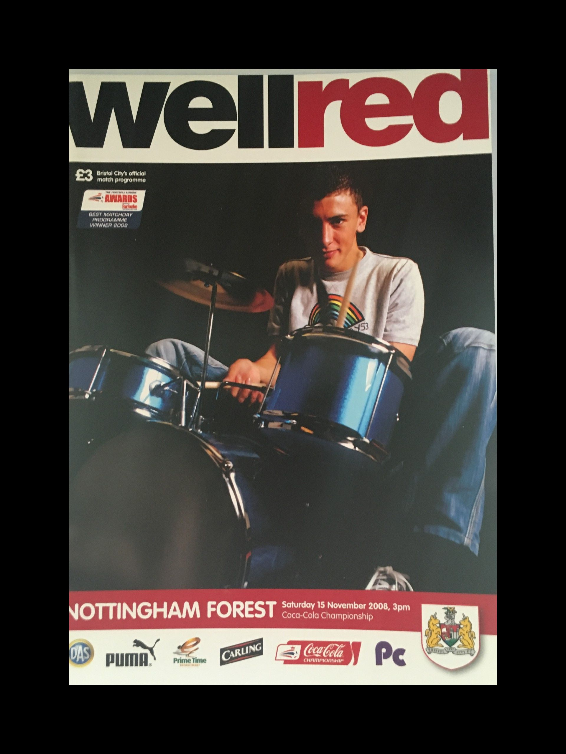 Bristol City v Nottingham Forest 15-11-2008 Programme