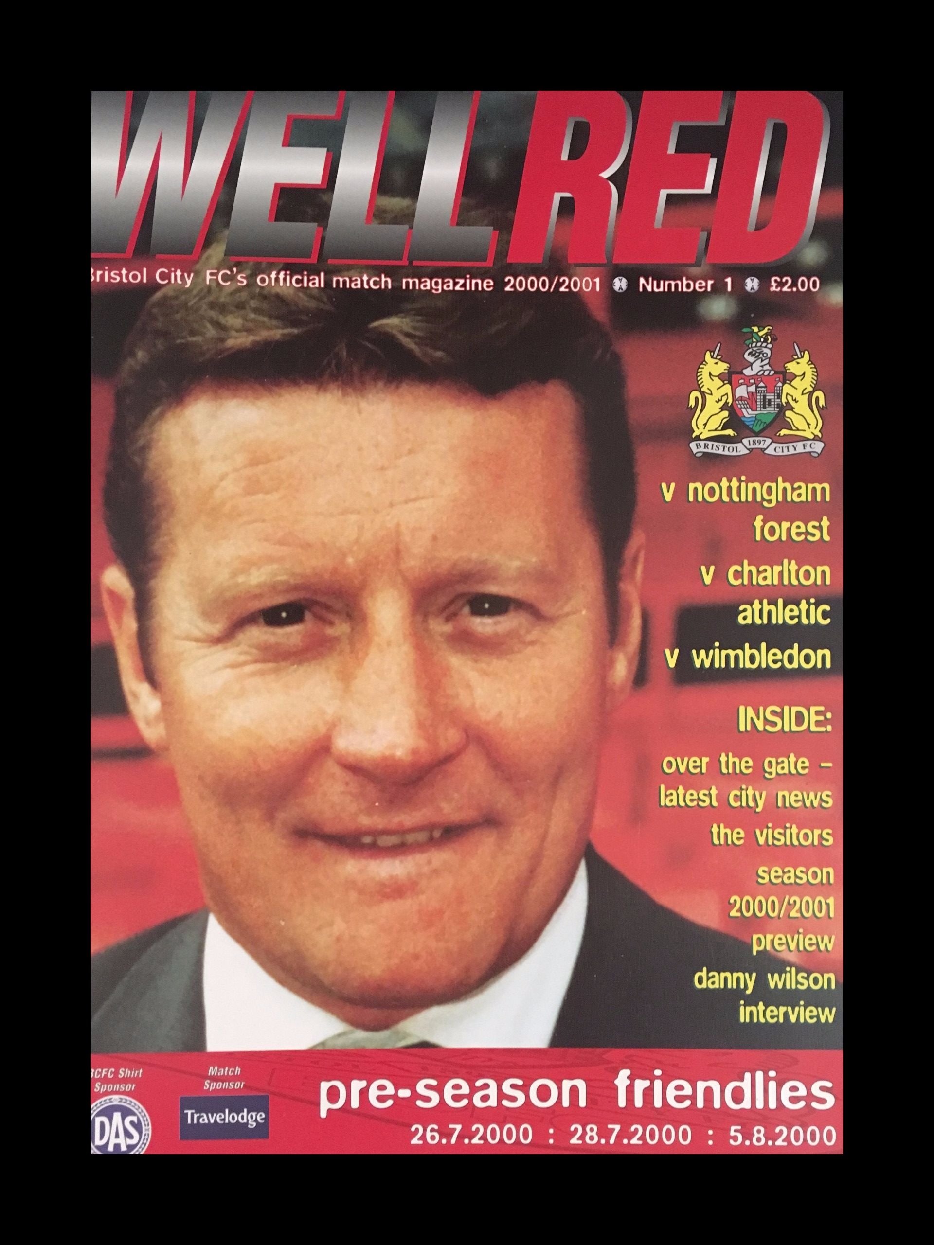 Bristol City v Nottingham Forest 26-07-2000 Programme