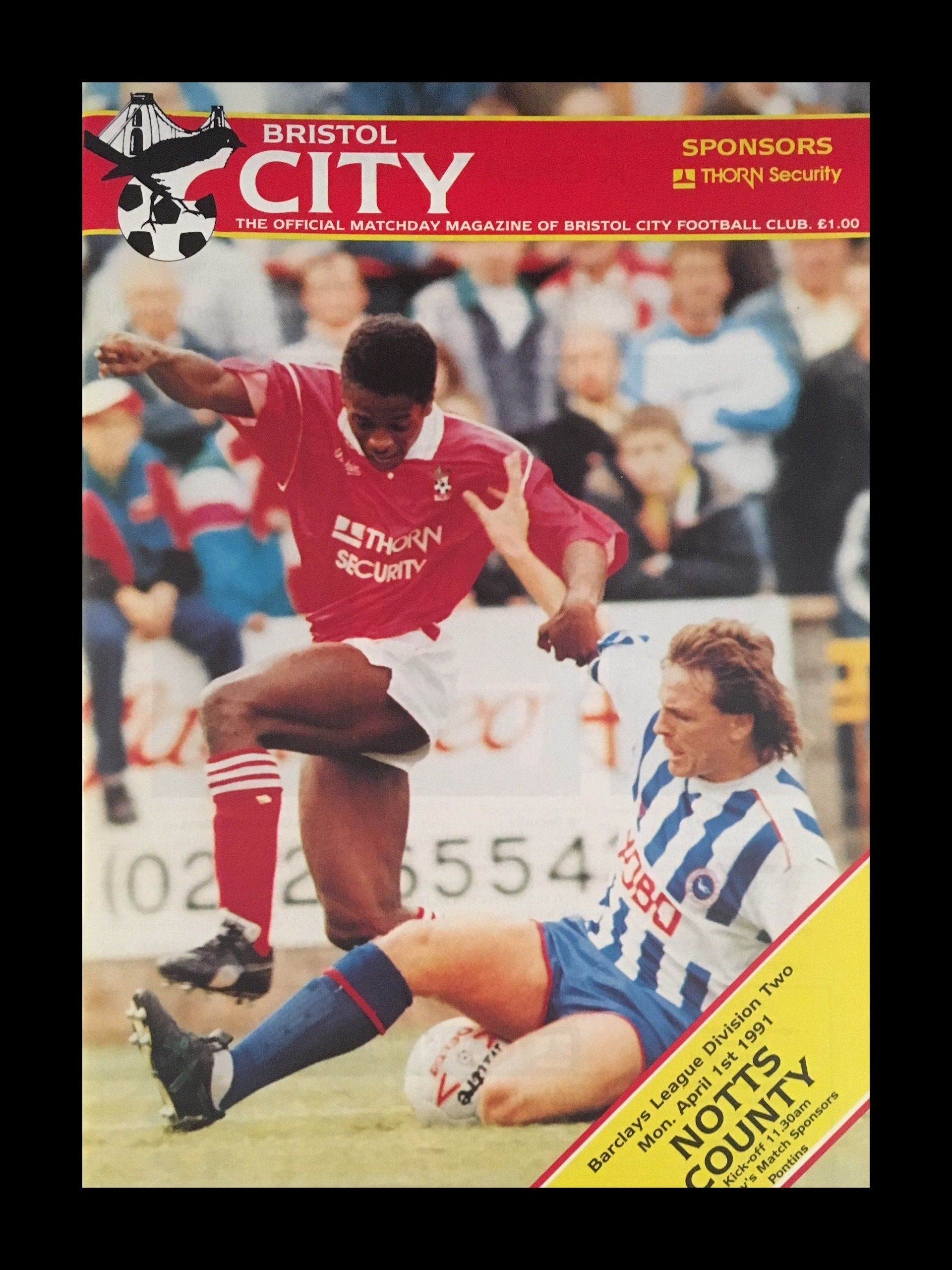 Bristol City v Notts County 04-04-1991 Programme