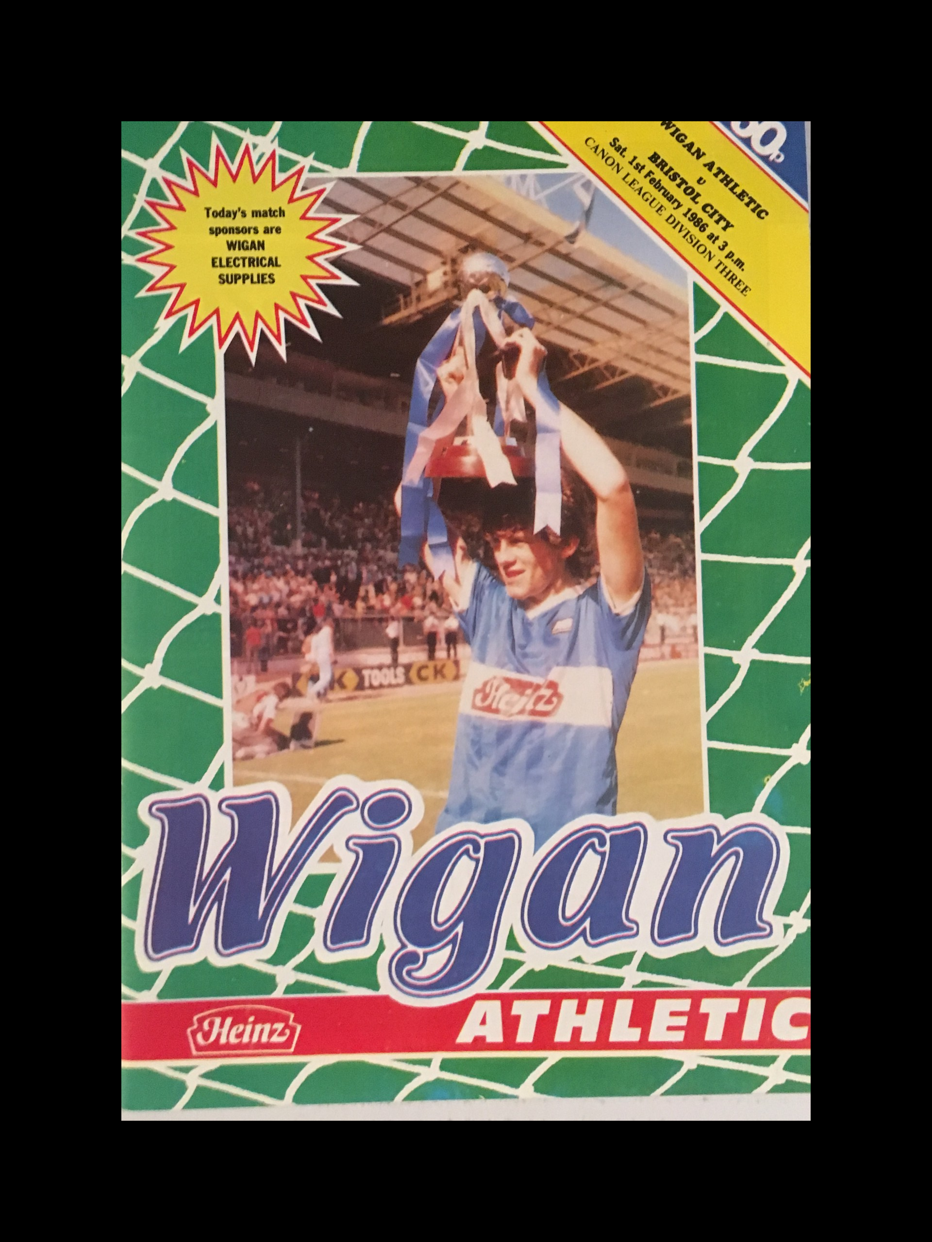 Wigan Athletic v Bristol City 01-02-86 Programme