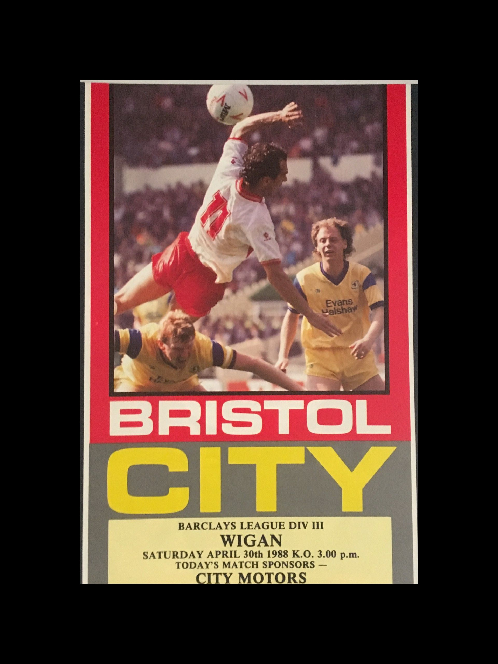Bristol City v Wigan Athletic 30-04-1988 Programme