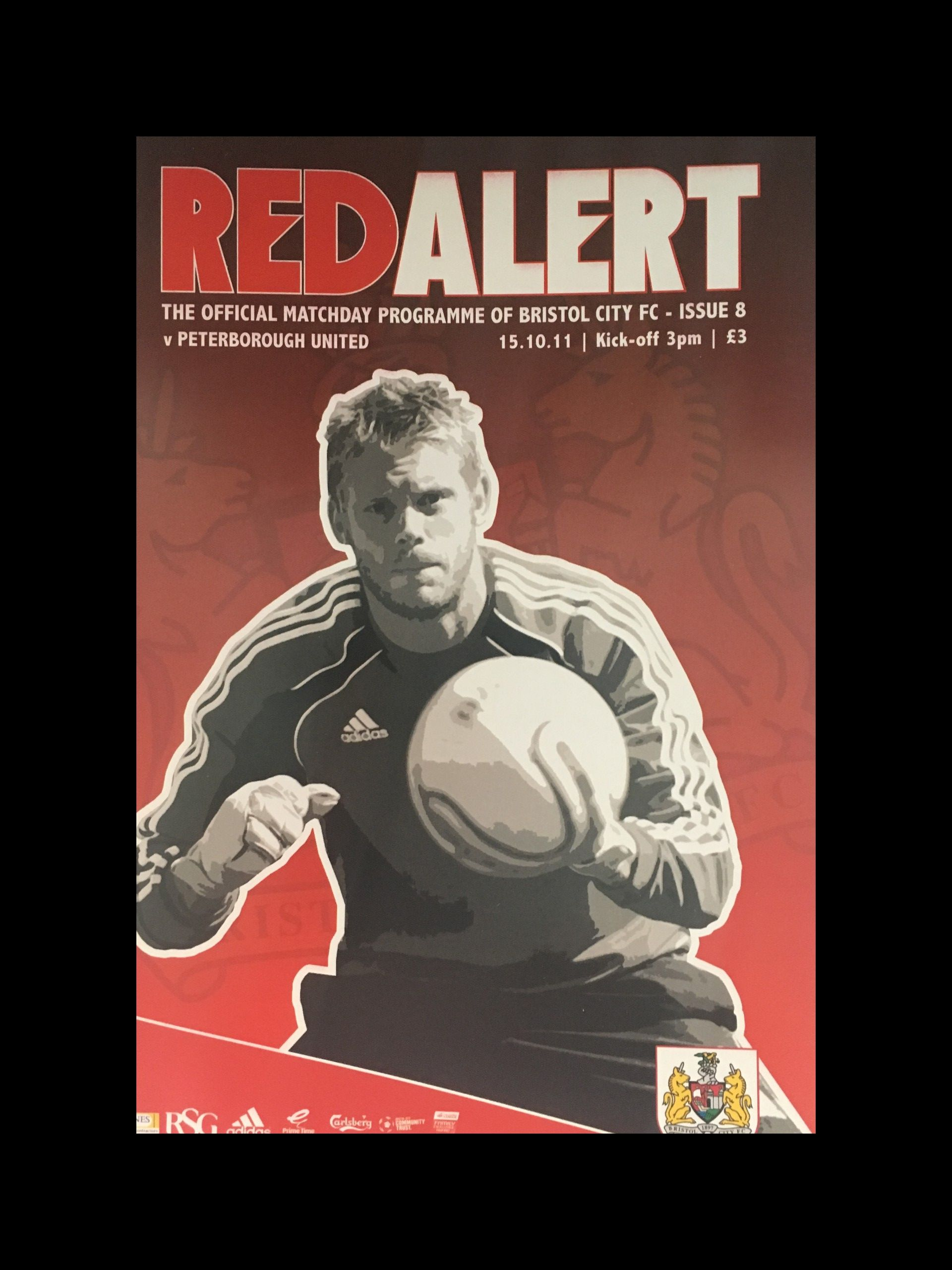 Bristol City v Peterborough United 15-10-2011 Programme