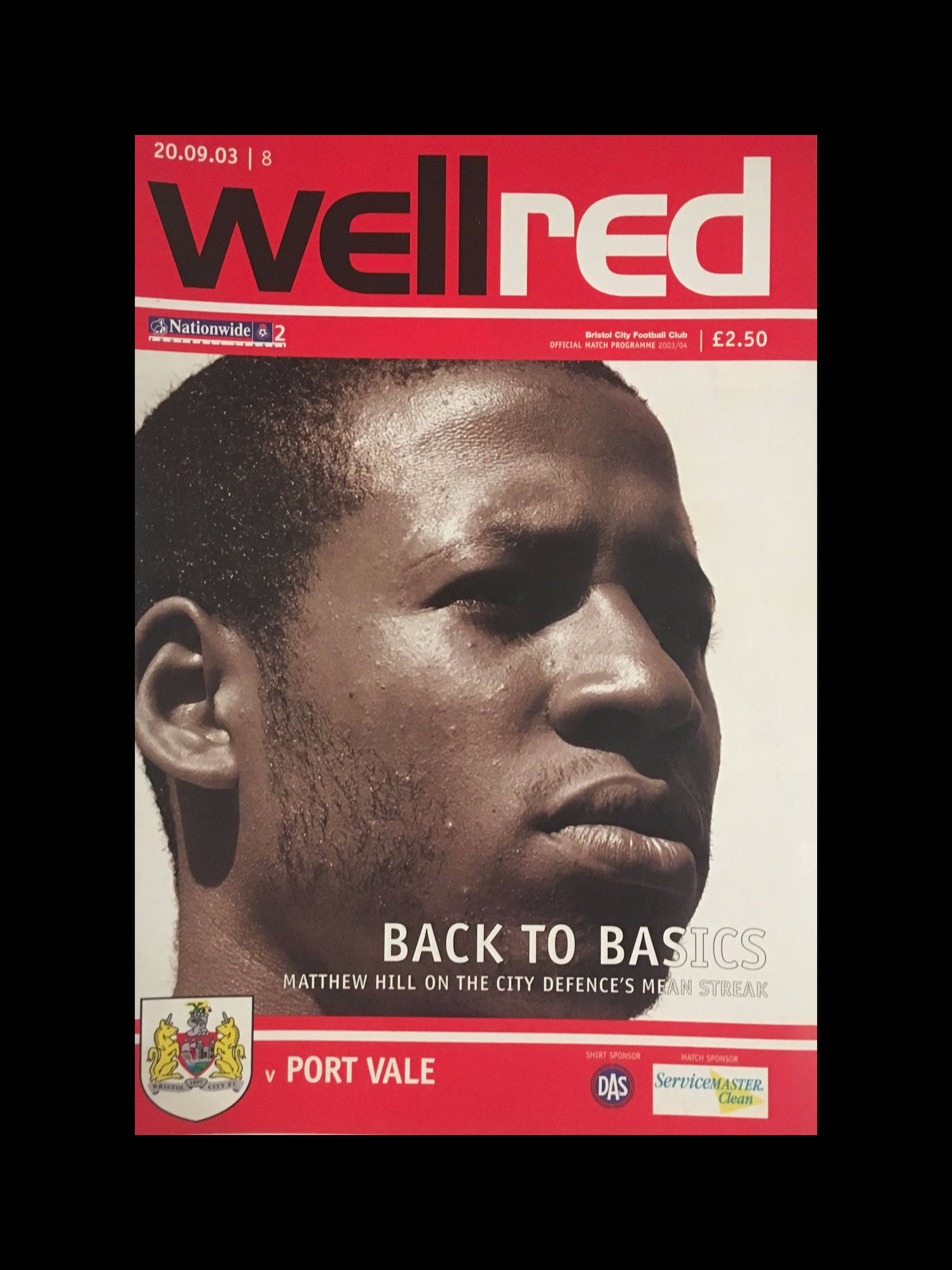 Bristol City v Port Vale 20-09-2003 Programme