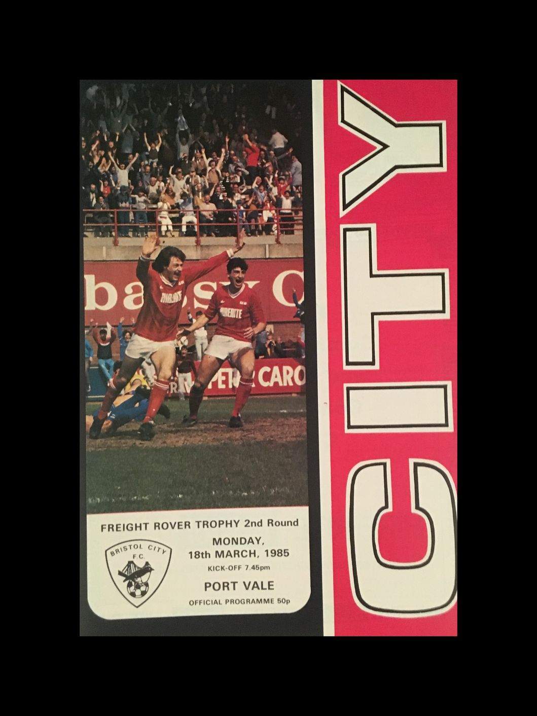 Bristol City v Port Vale 18-03-85 Programme