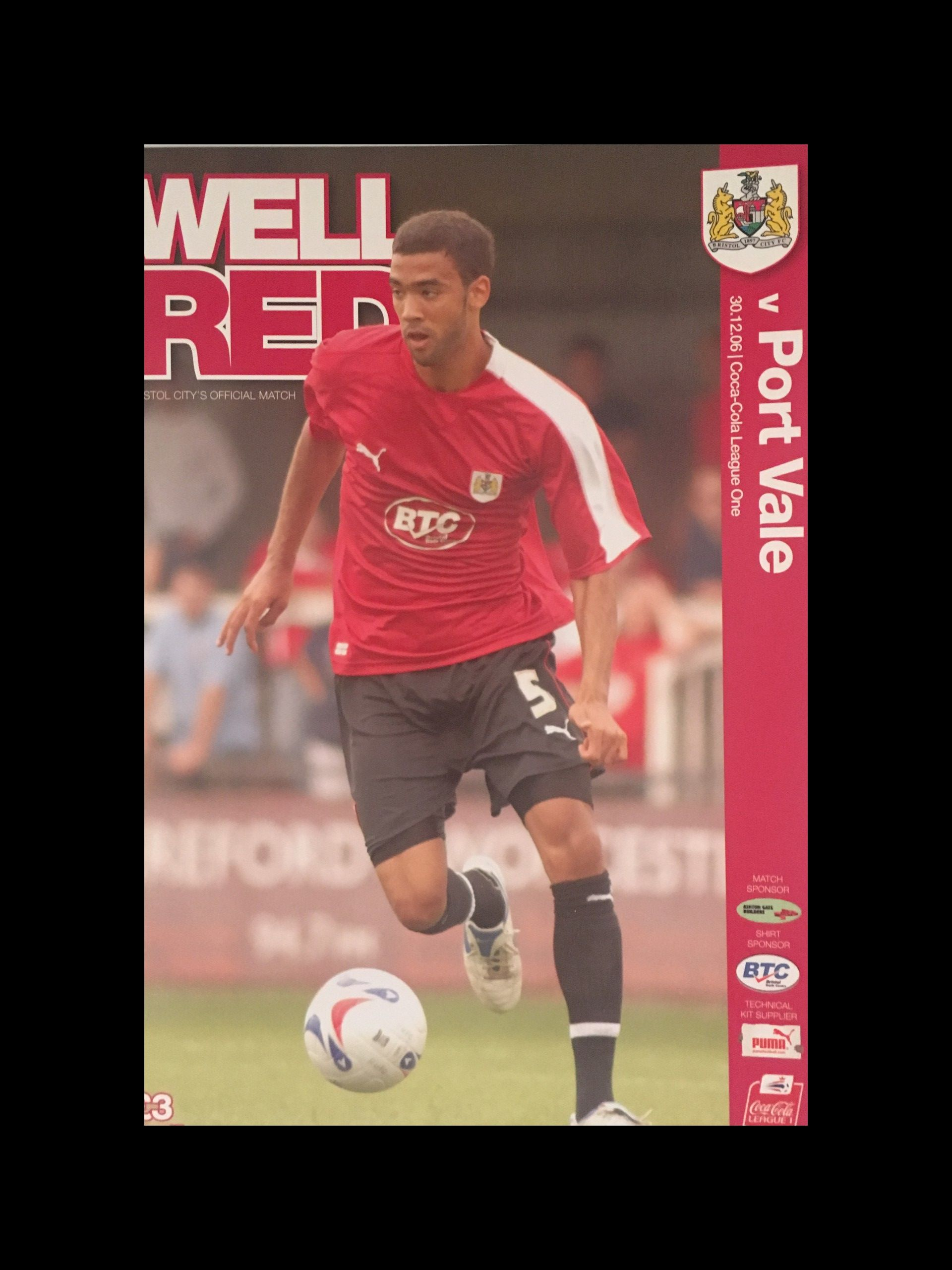 Bristol City v Port Vale 30-12-2006 Programme