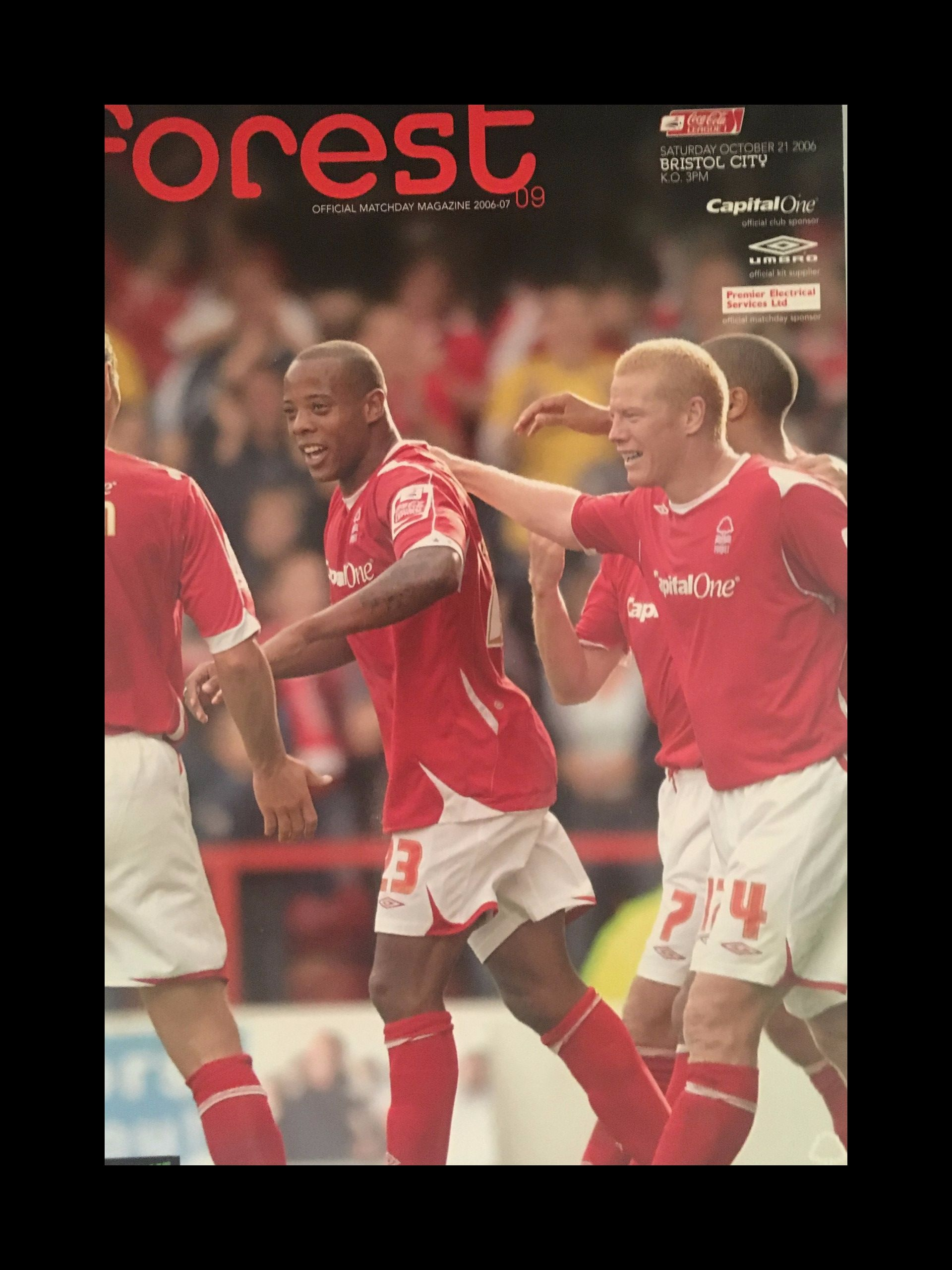 Nottingham Forest v Bristol City 21-10-2006 Programme