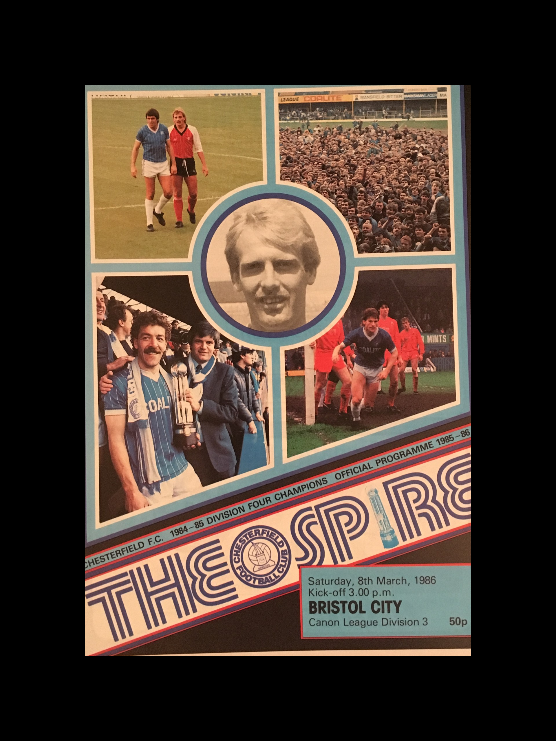 Chesterfield v Bristol City 08-03-86 Programme