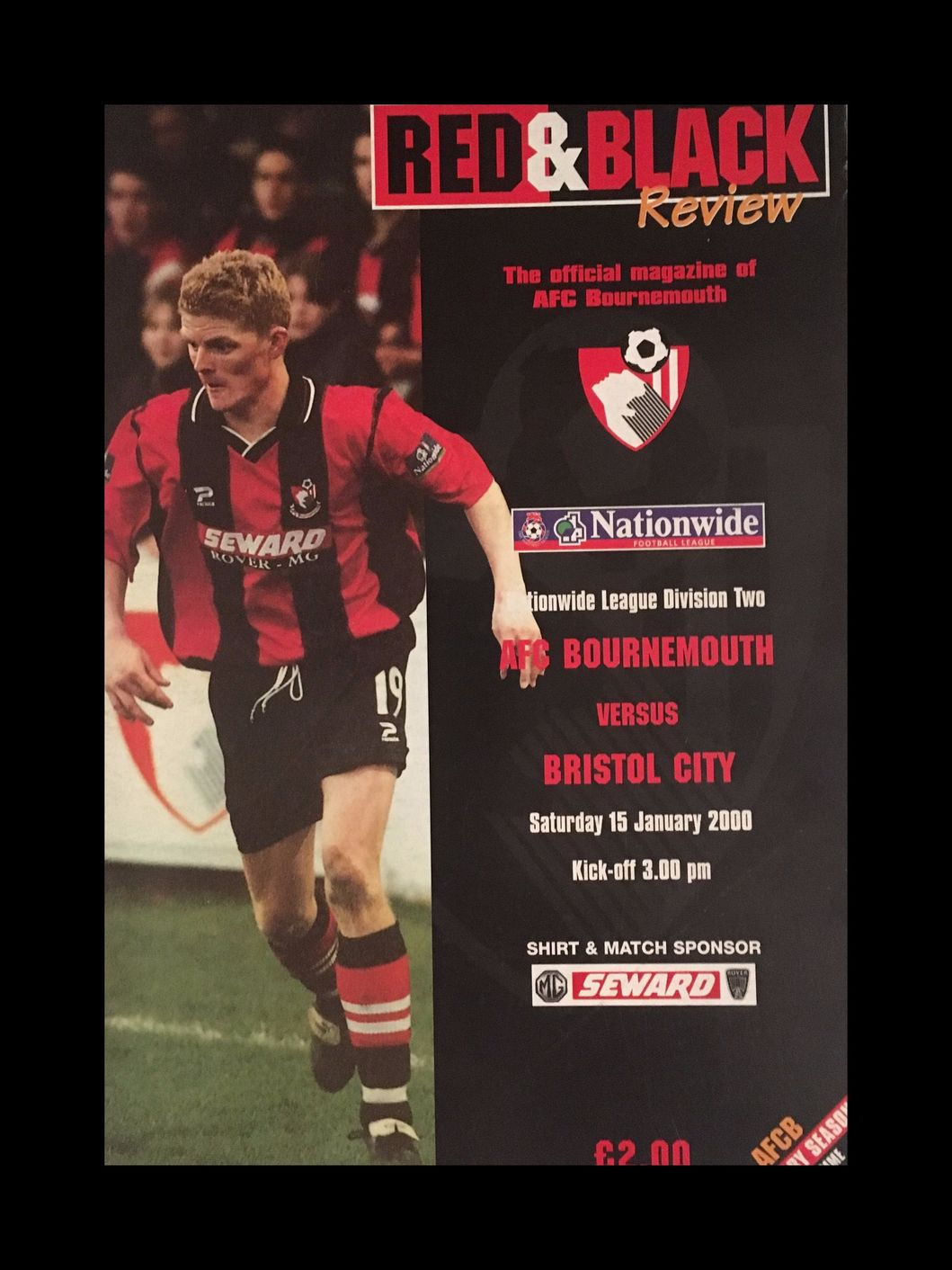 AFC Bournemouth v Bristol City 15-01-2000 Programme