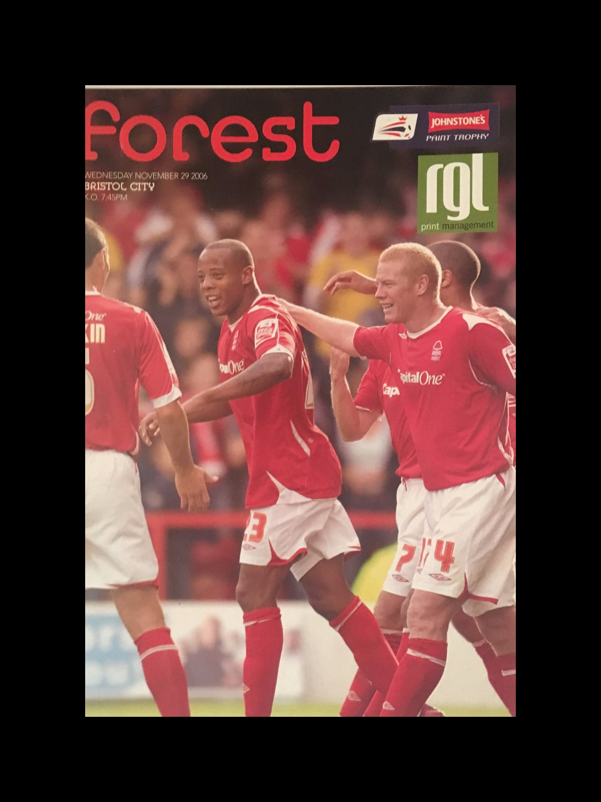 Nottingham Forest v Bristol City 29-11-2006 Programme