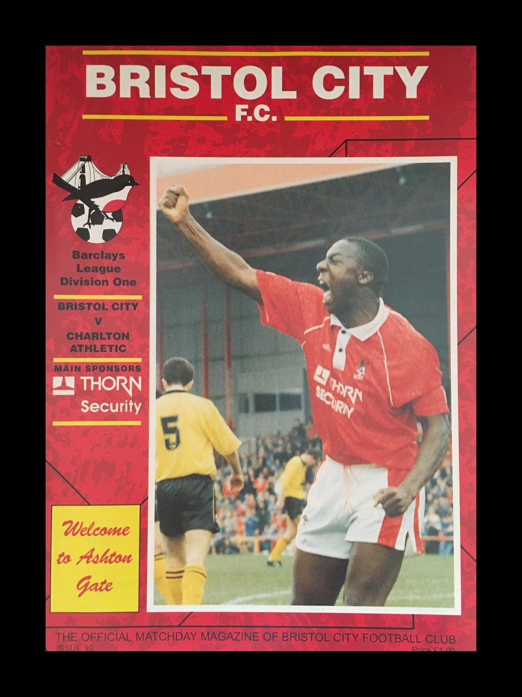 Bristol City v Charlton Athletic 10-10-1992 Programme
