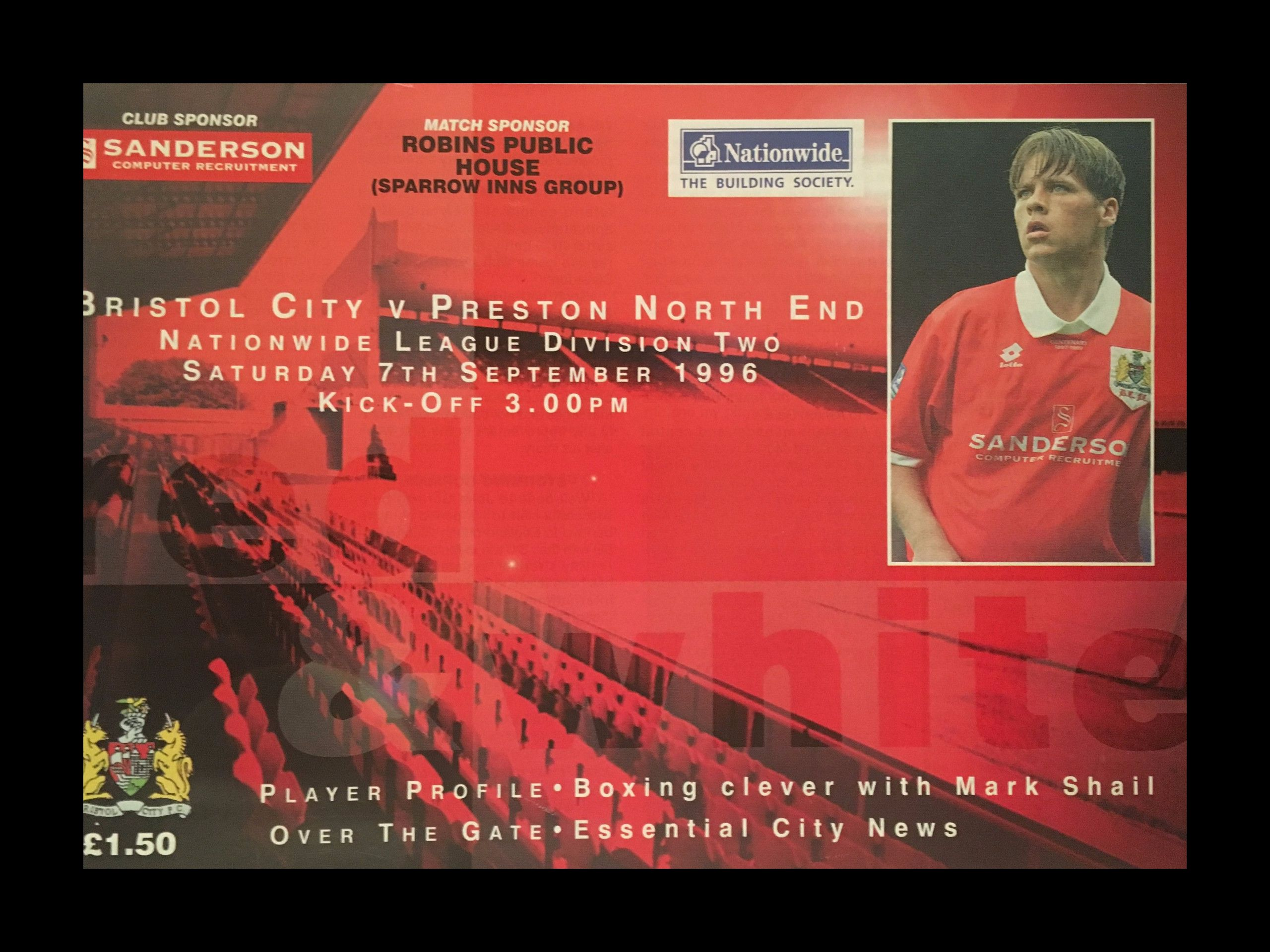 Bristol City v Preston North End 07-09-1996 Programme