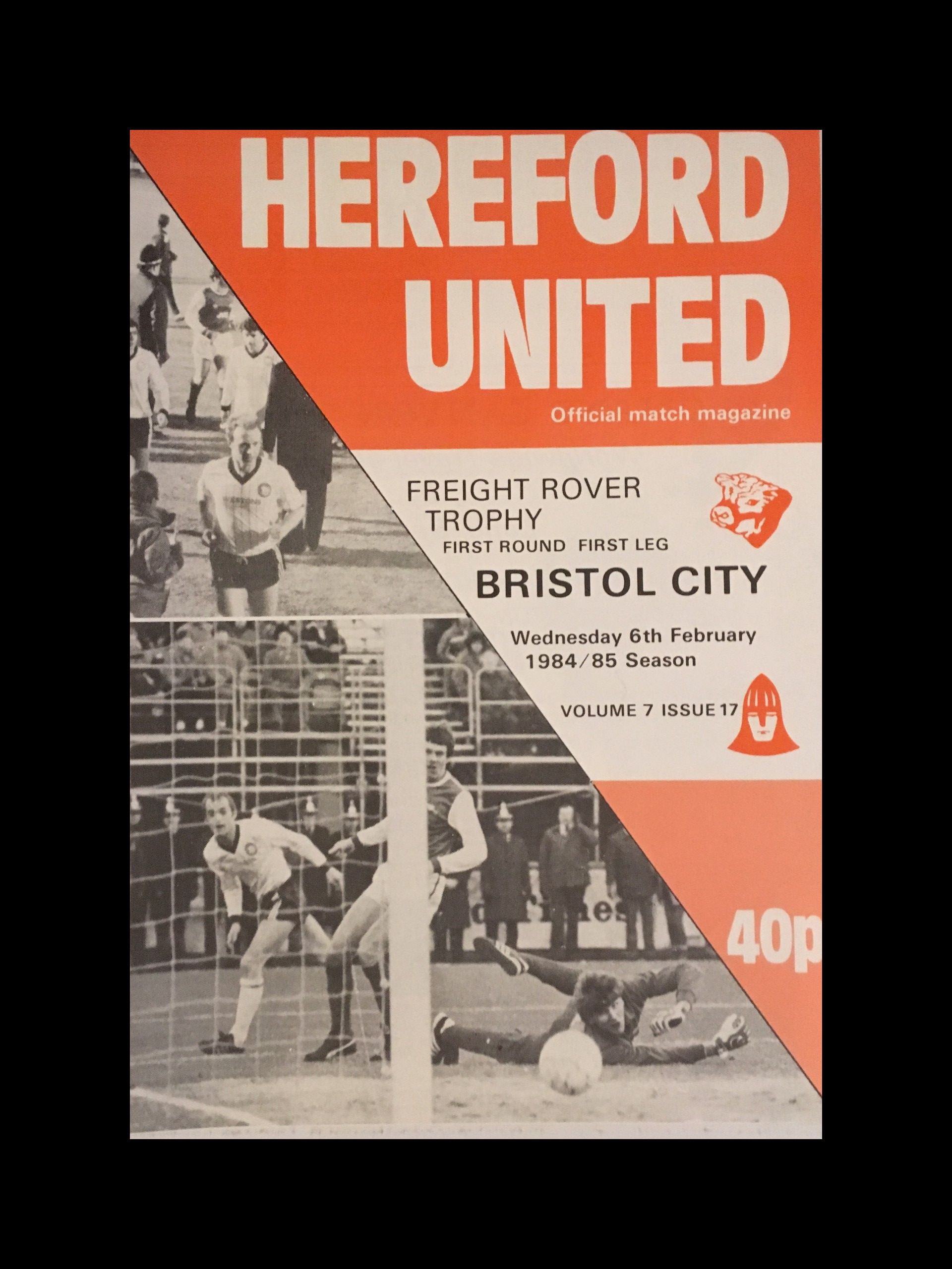 Hereford United v Bristol City 06-02-85 Programme