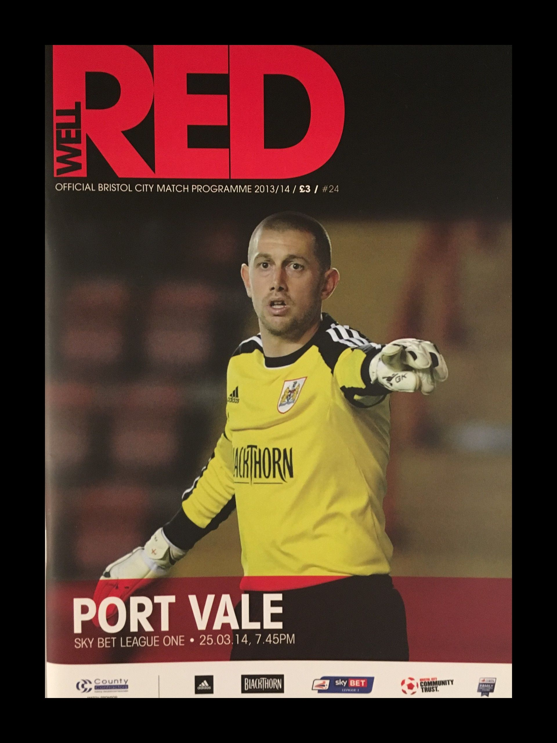 Bristol City v Port Vale 25-03-2014 Programme