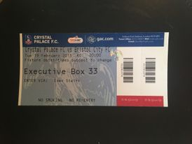 Crystal Palace v Bristol City 19-02-13 Ticket
