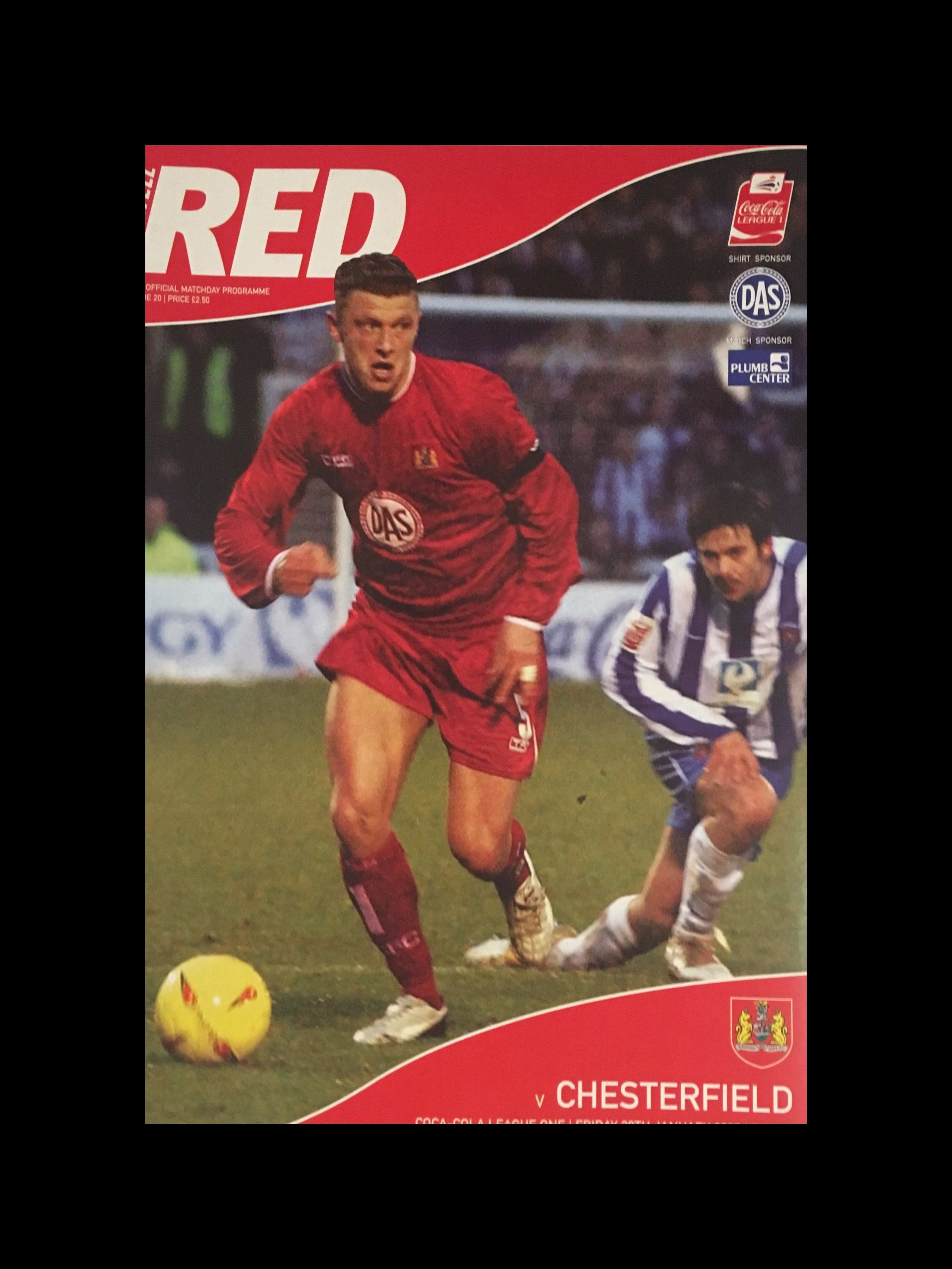 Bristol City v Chesterfield 28-01-2005 Programme