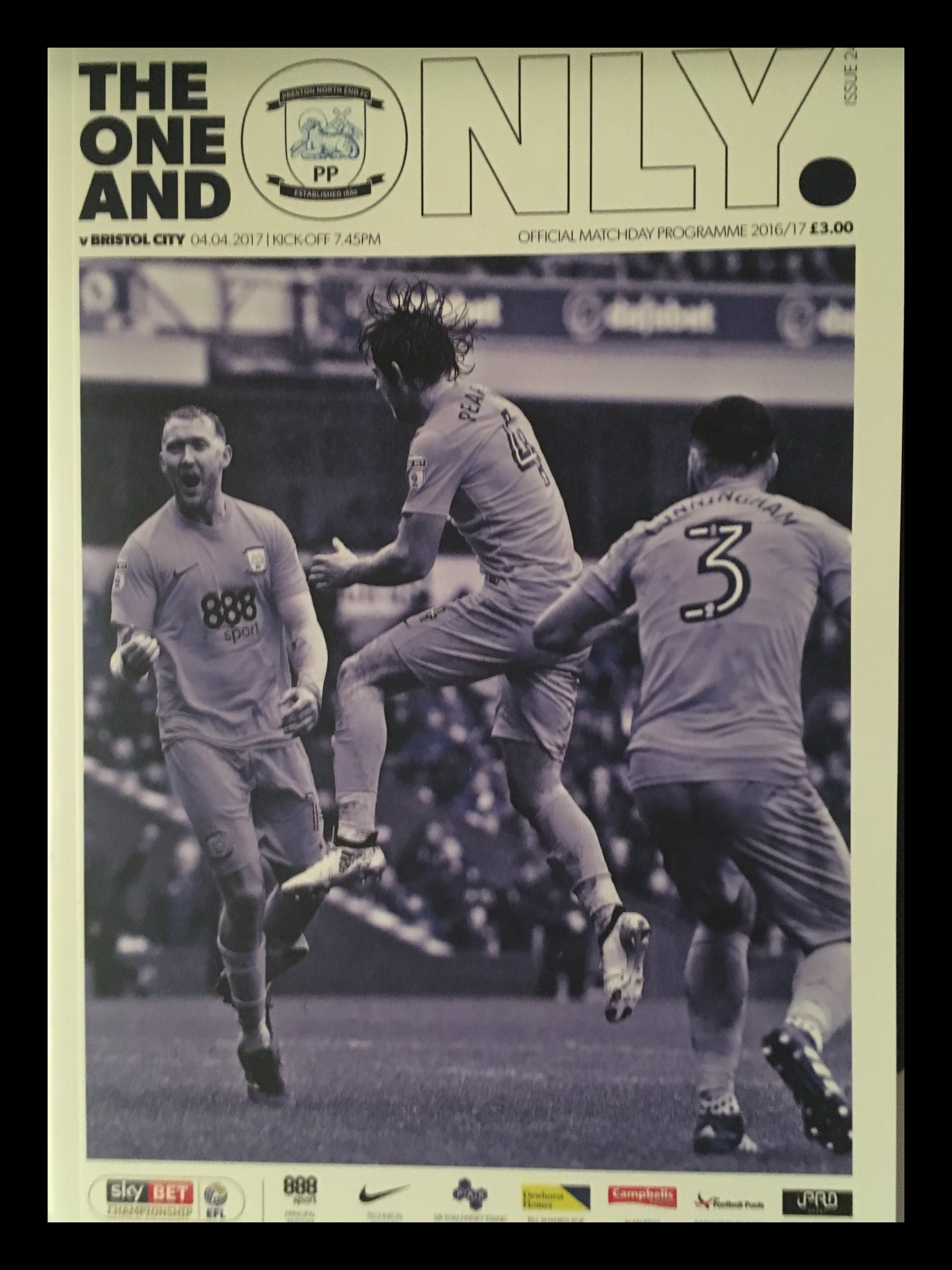 Preston North End v Bristol City 04-04-17 Programme