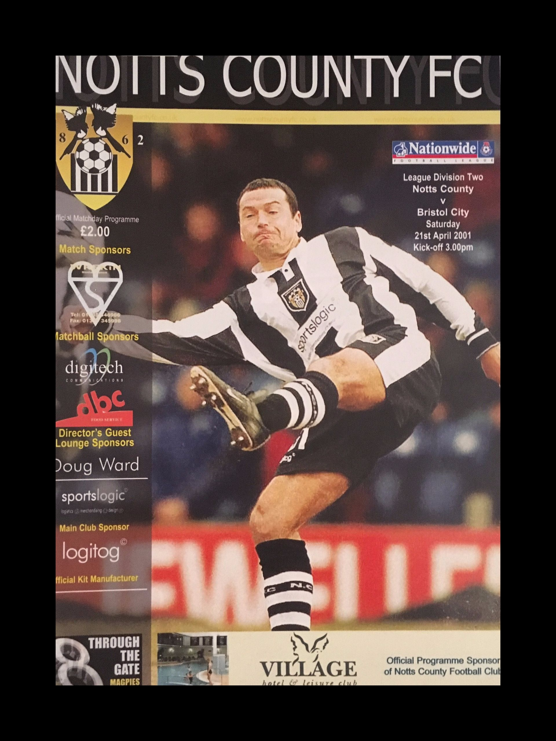 Notts County v Bristol City 21-04-2001 Programme