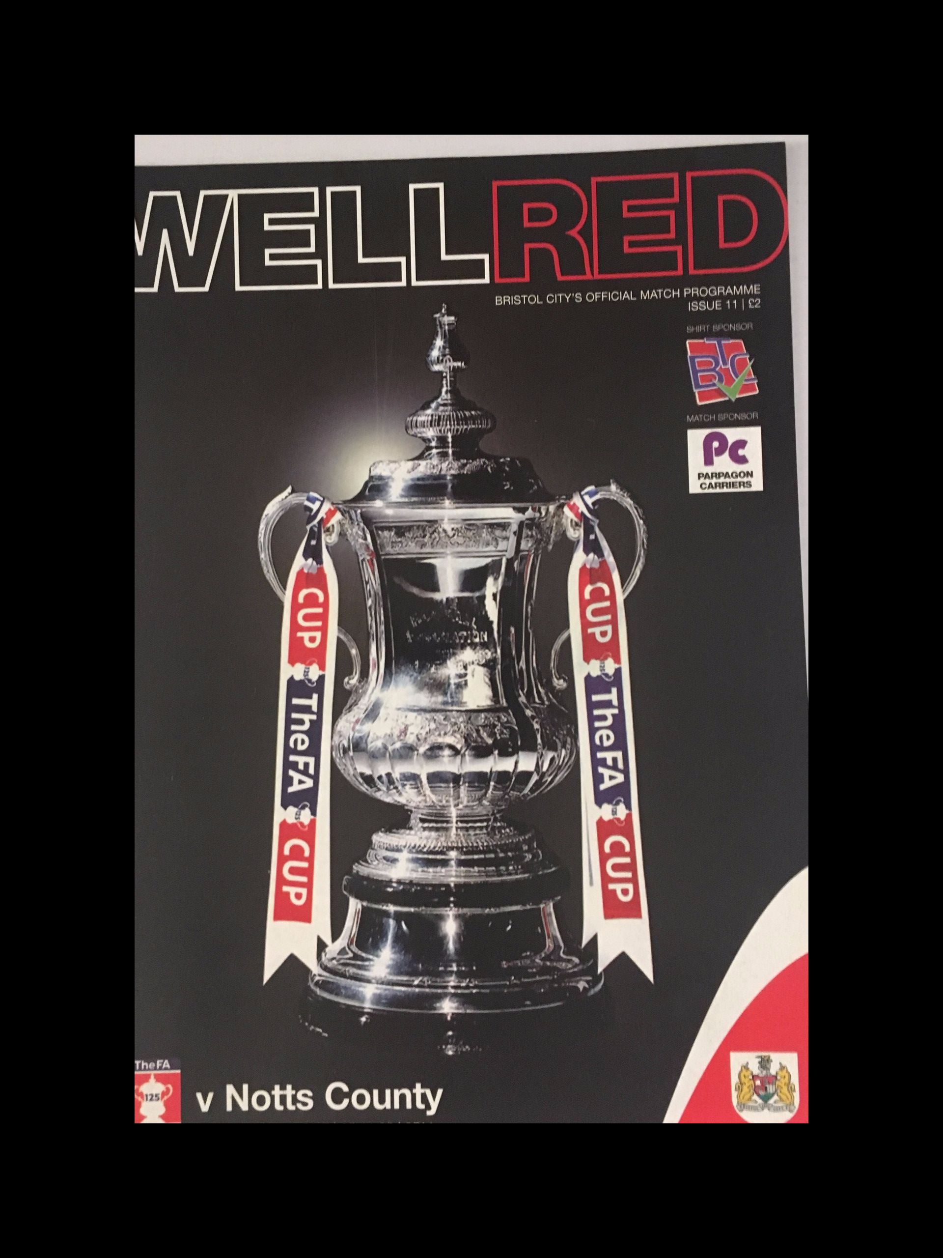 Bristol City v Notts County 05-11-2005 Programme