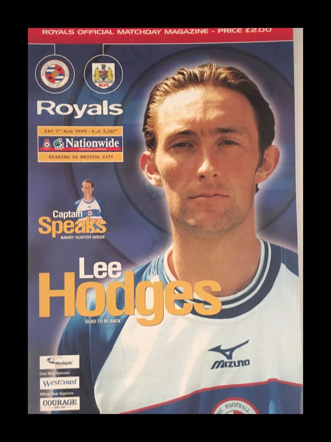 Reading v Bristol City 07-08-1999 Programme