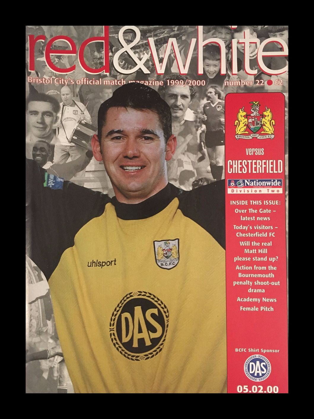 Bristol City v Chesterfield 05-02-2000 Programme