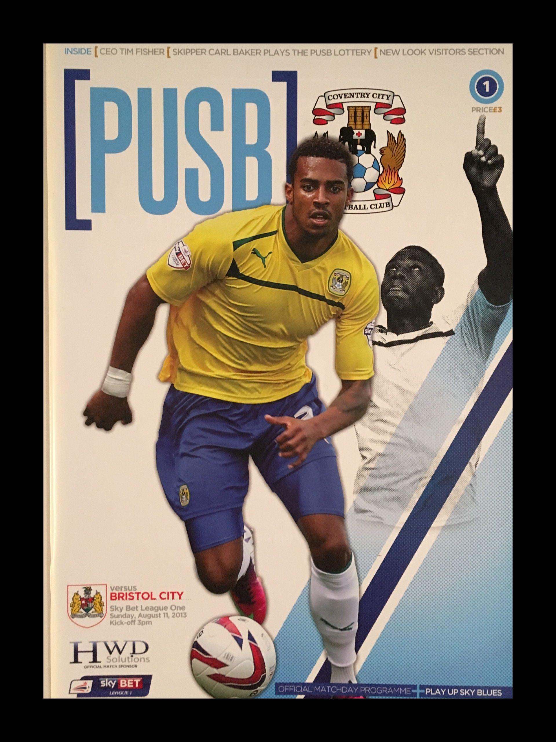 Coventry City v Bristol City 11-08-2013 Programme