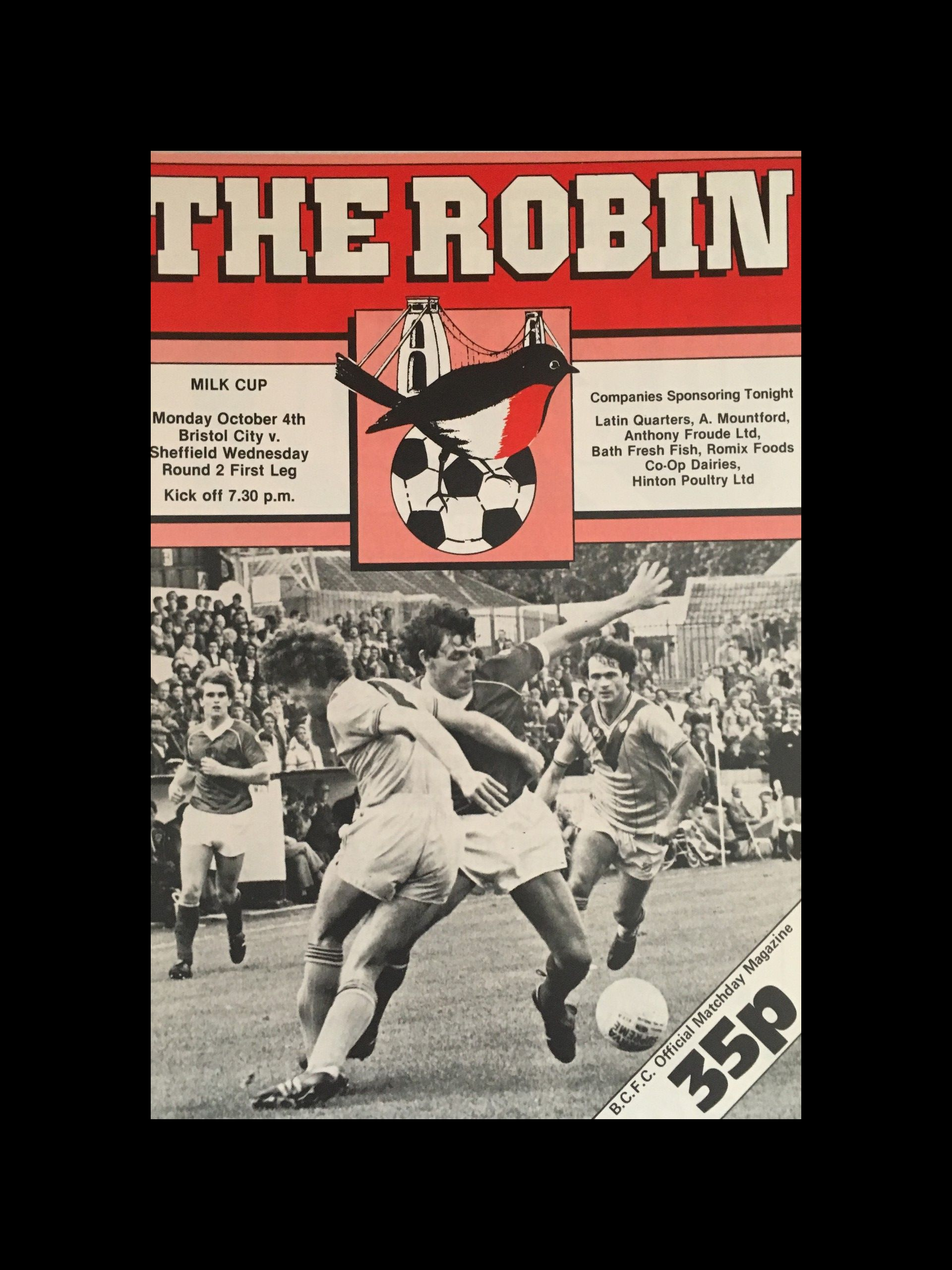 Bristol City v Sheffield Wednesday 04-10-82 Programme
