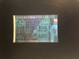 Charlton Athletic v Bristol City 04-05-13 Ticket