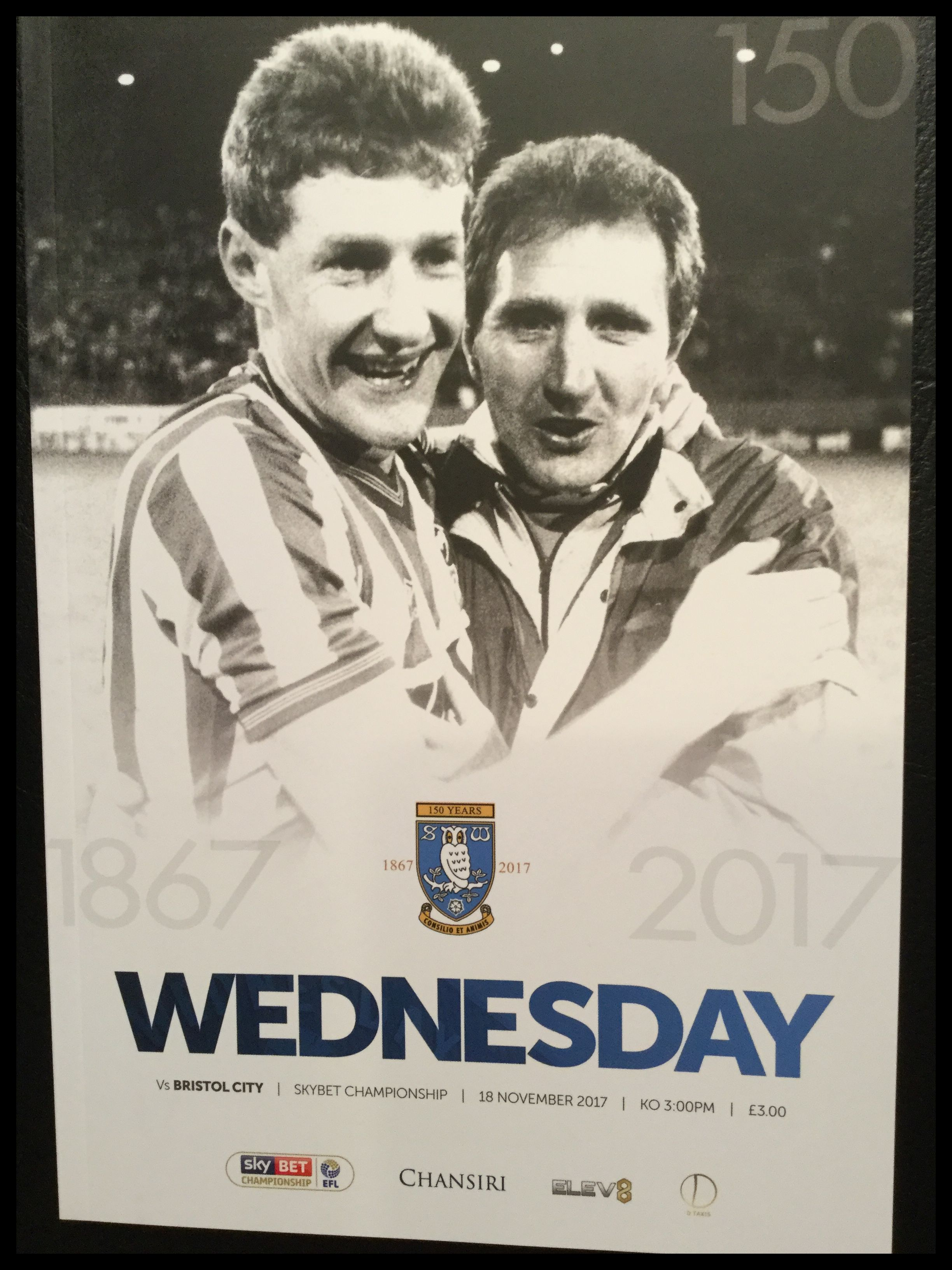 Sheffield Wednesday v Bristol City 18-11-17 Programme