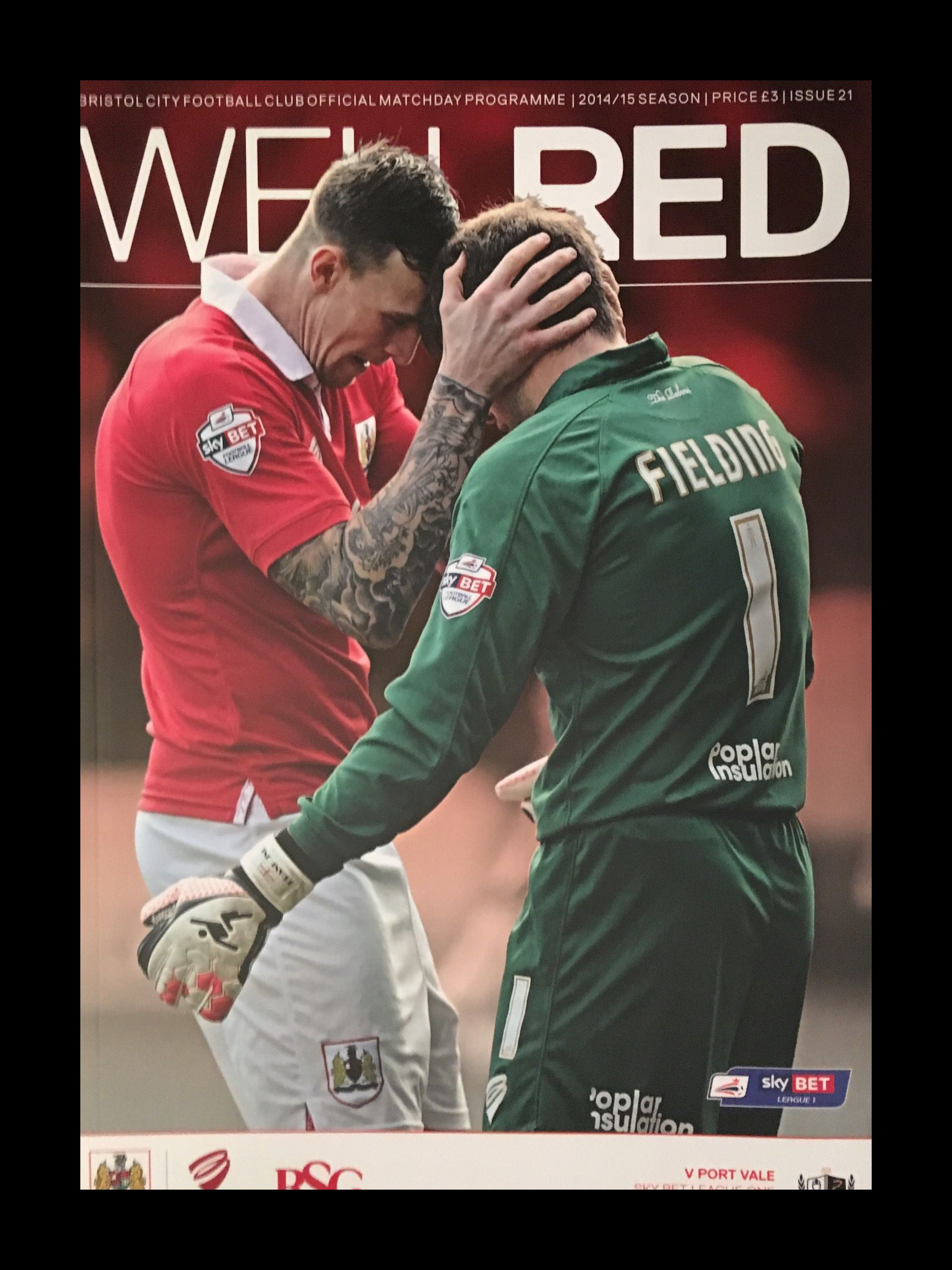 Bristol City v Port Vale 10-02-2015 Programme