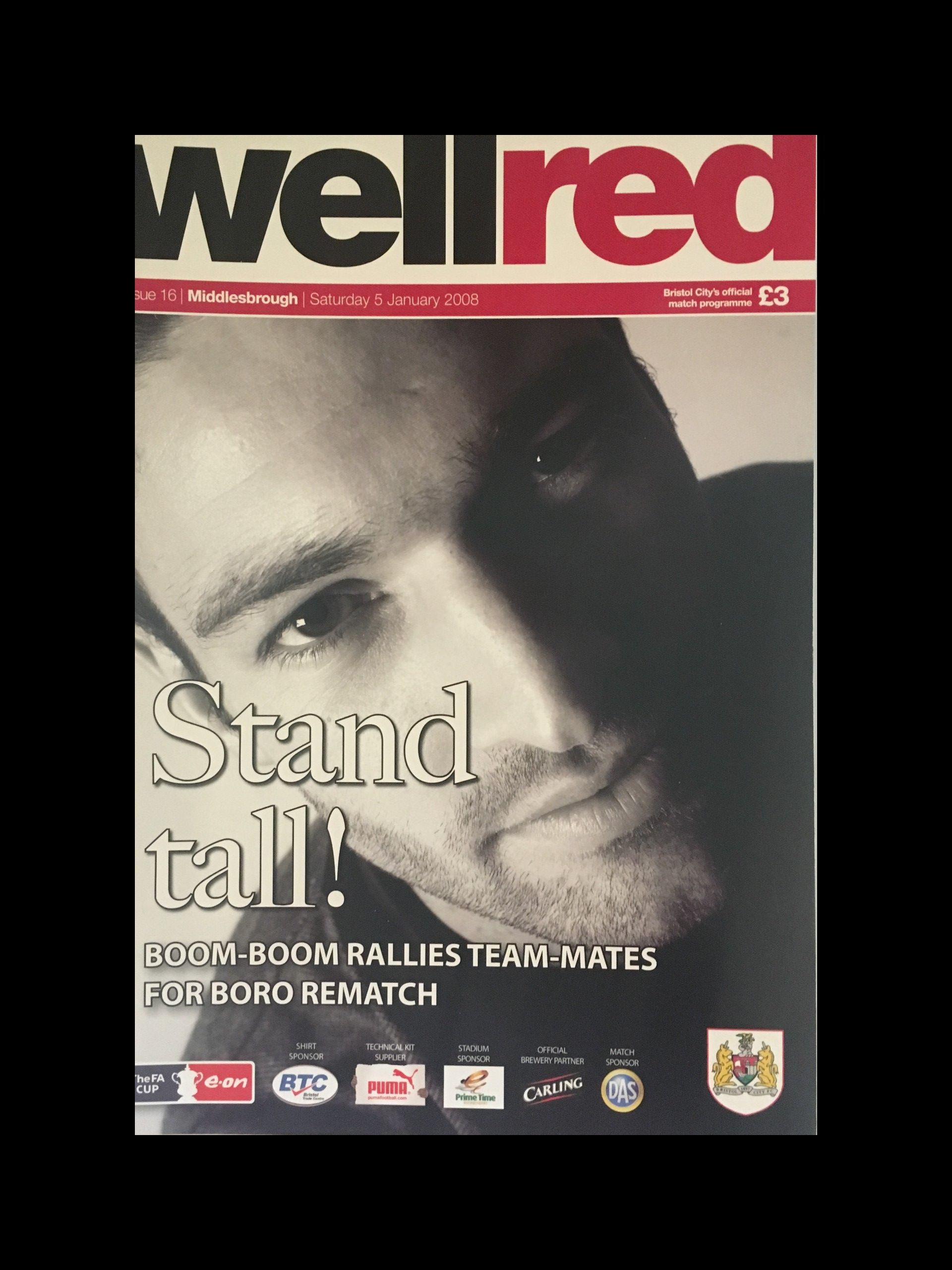 Bristol City v Middlesbrough 05-01-2008 Programme