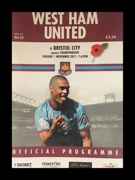 West Ham United v Bristol City 01-11-2011 Programme