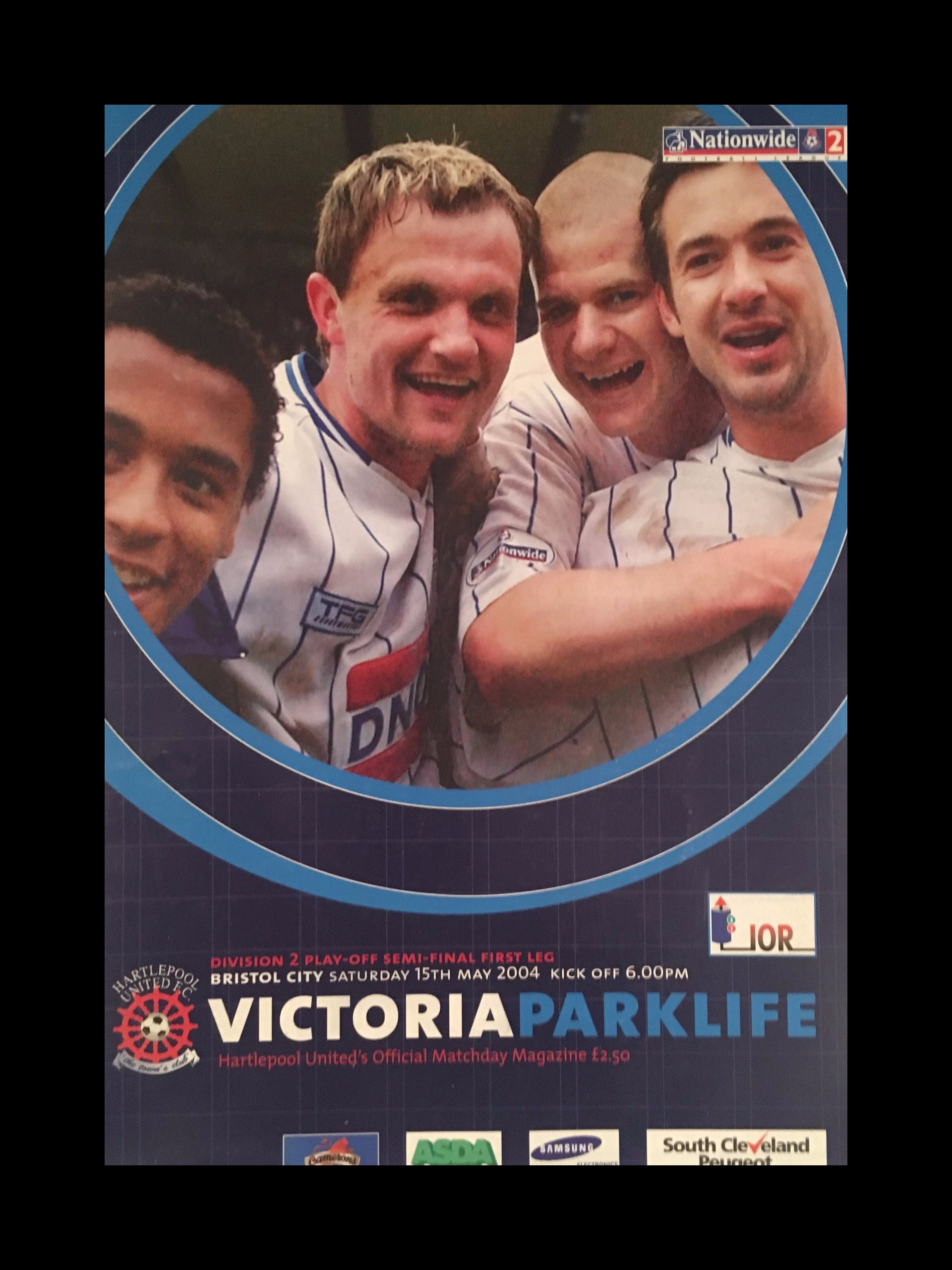 Hartlepool United v Bristol City 15-05-2004 Programme