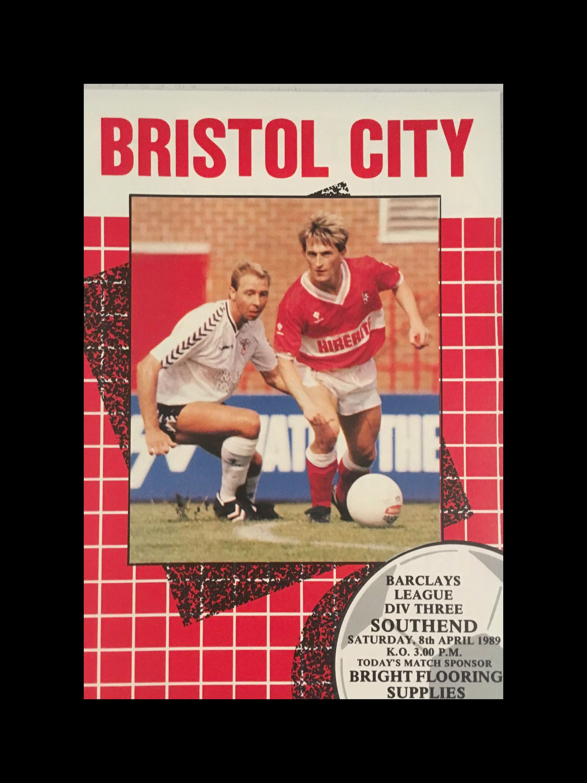 Bristol City v Southend United 08-04-1989 Programme