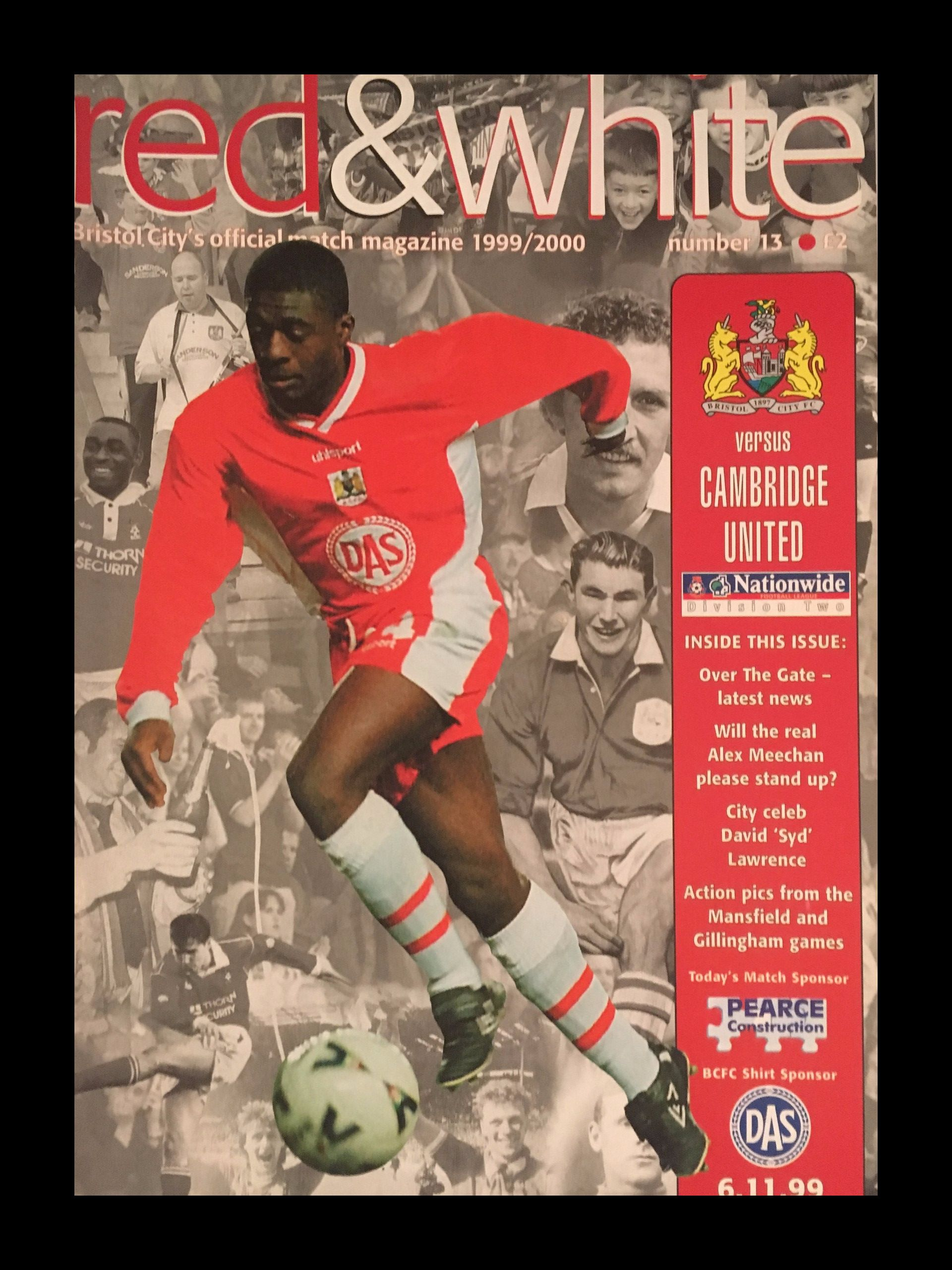 Bristol City v Cambridge United 06-11-1999 Programme
