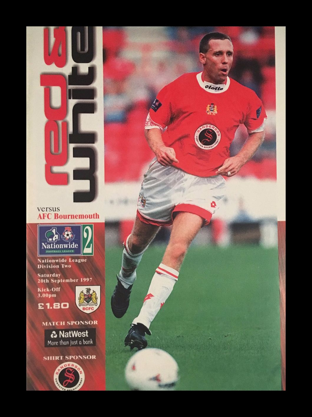 Bristol City v AFC Bournemouth 20-09-1997 Programme