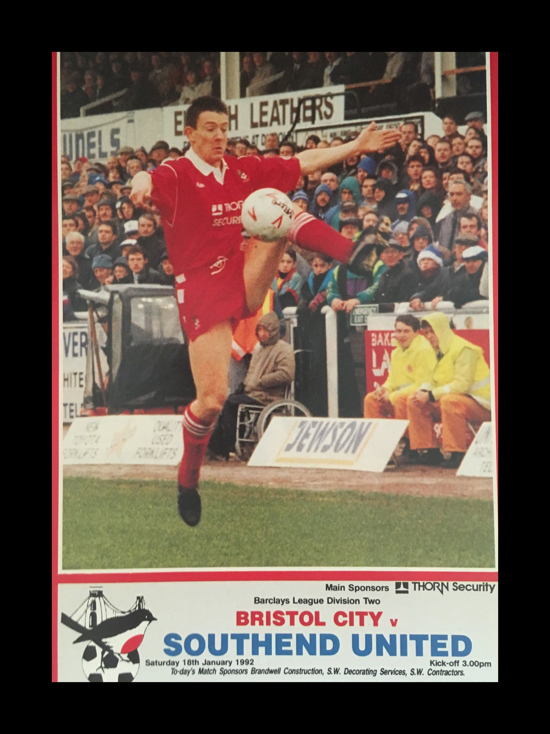 Bristol City v Southend United 18-01-1992 Programme