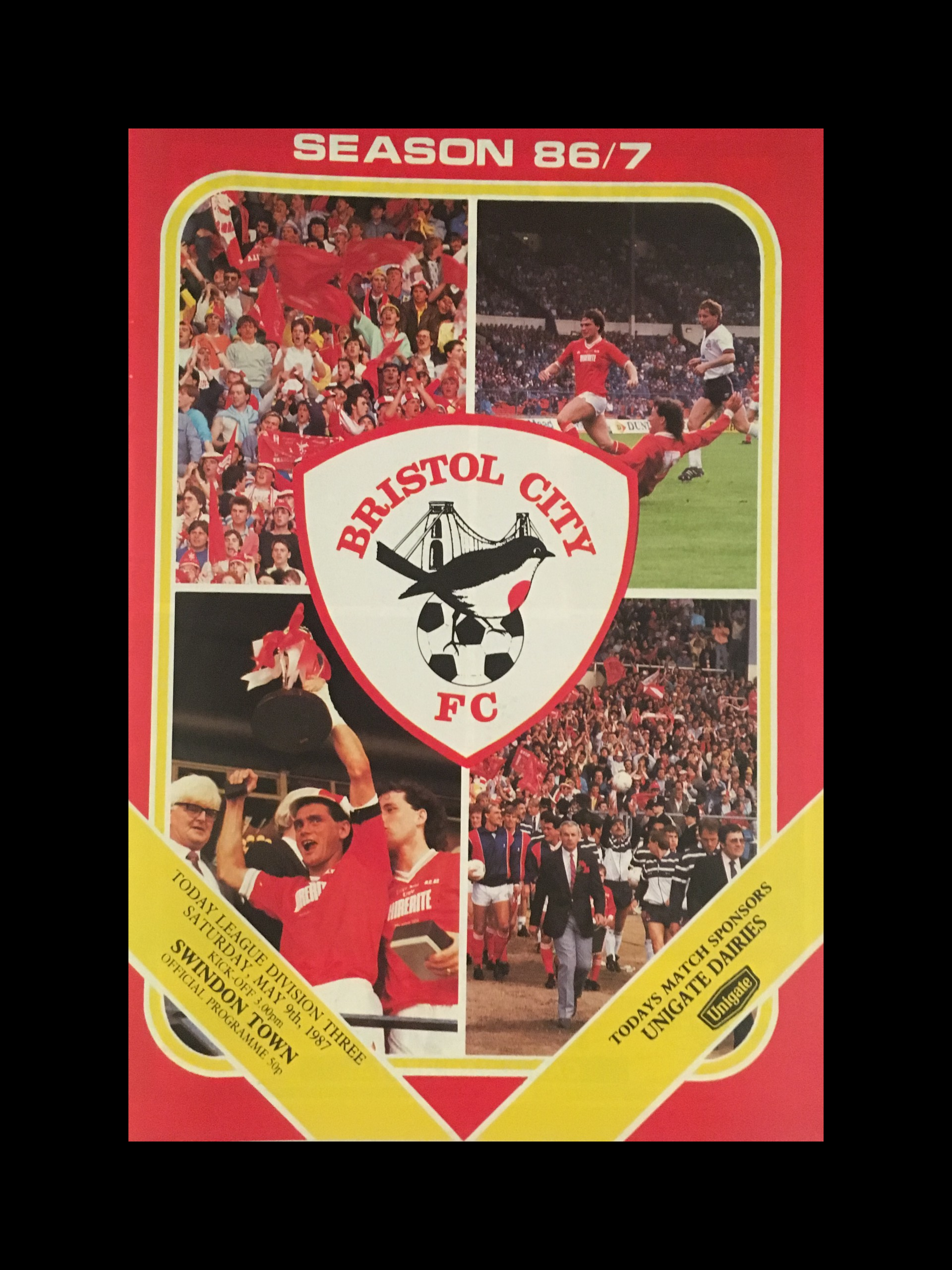 Bristol City v Swindon Town 09-05-87 Programme