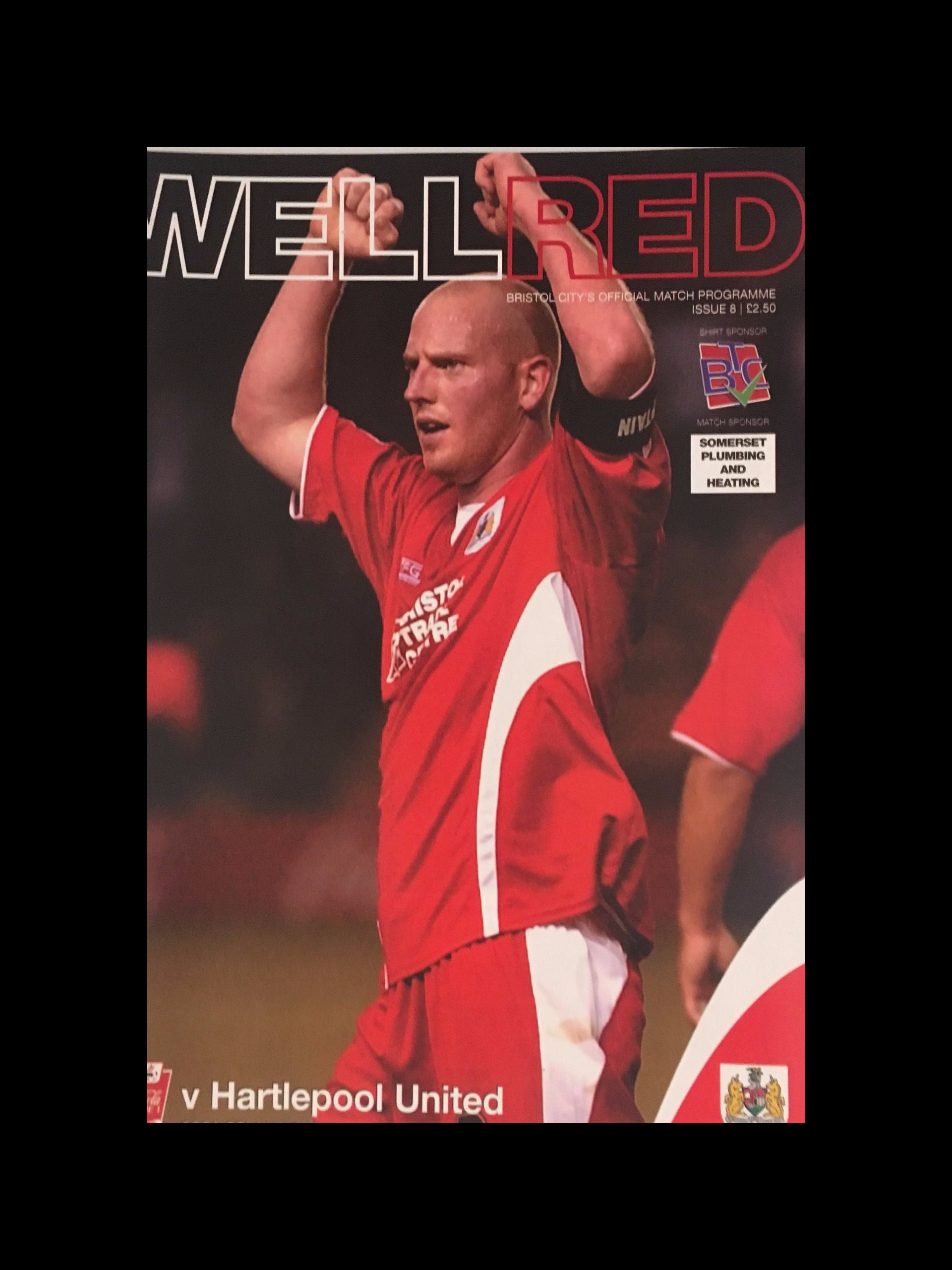 Bristol City v Hartlepool United 01-10-2005 Programme