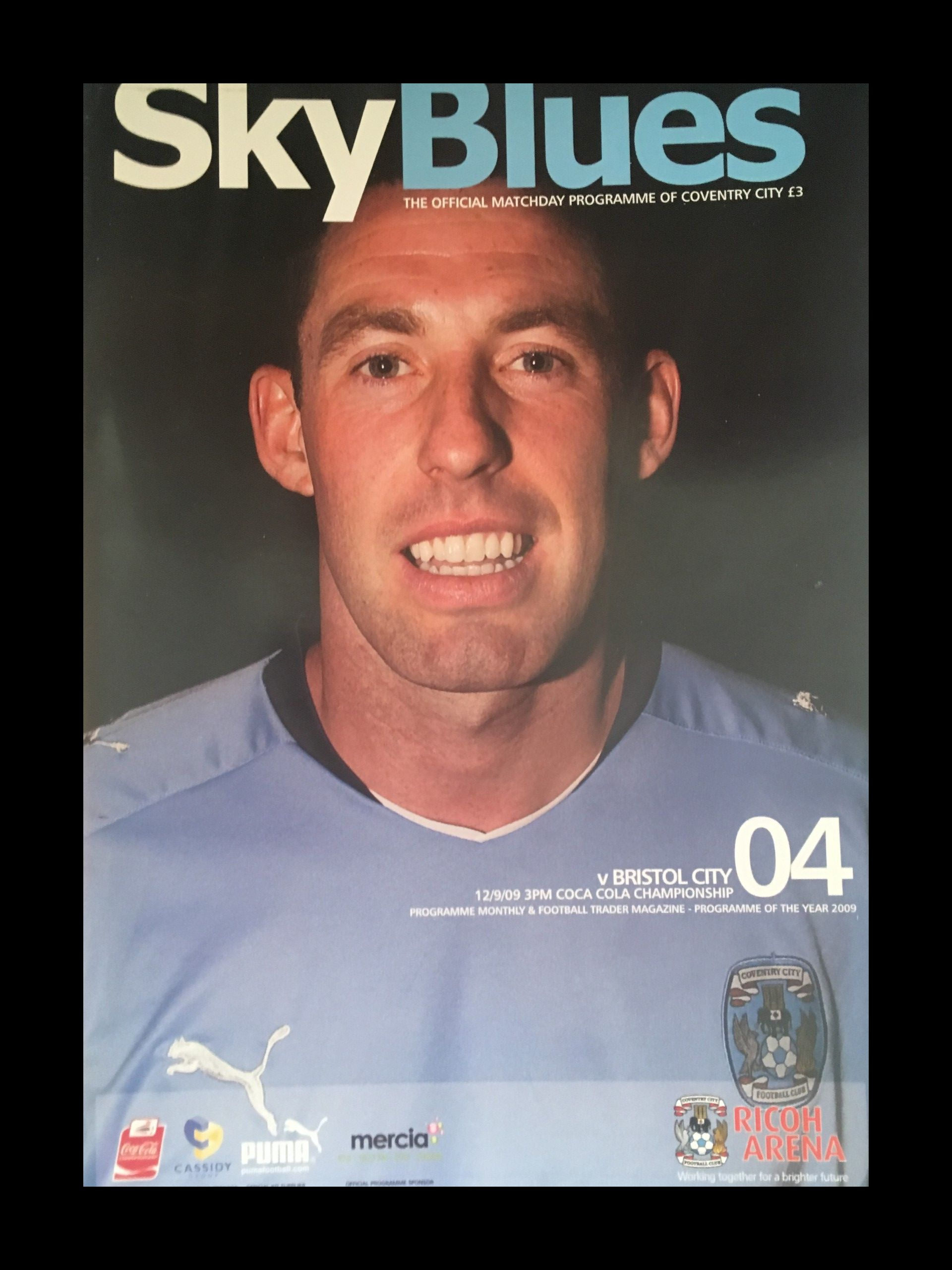 Coventry City v Bristol City 12-09-2009 Programme