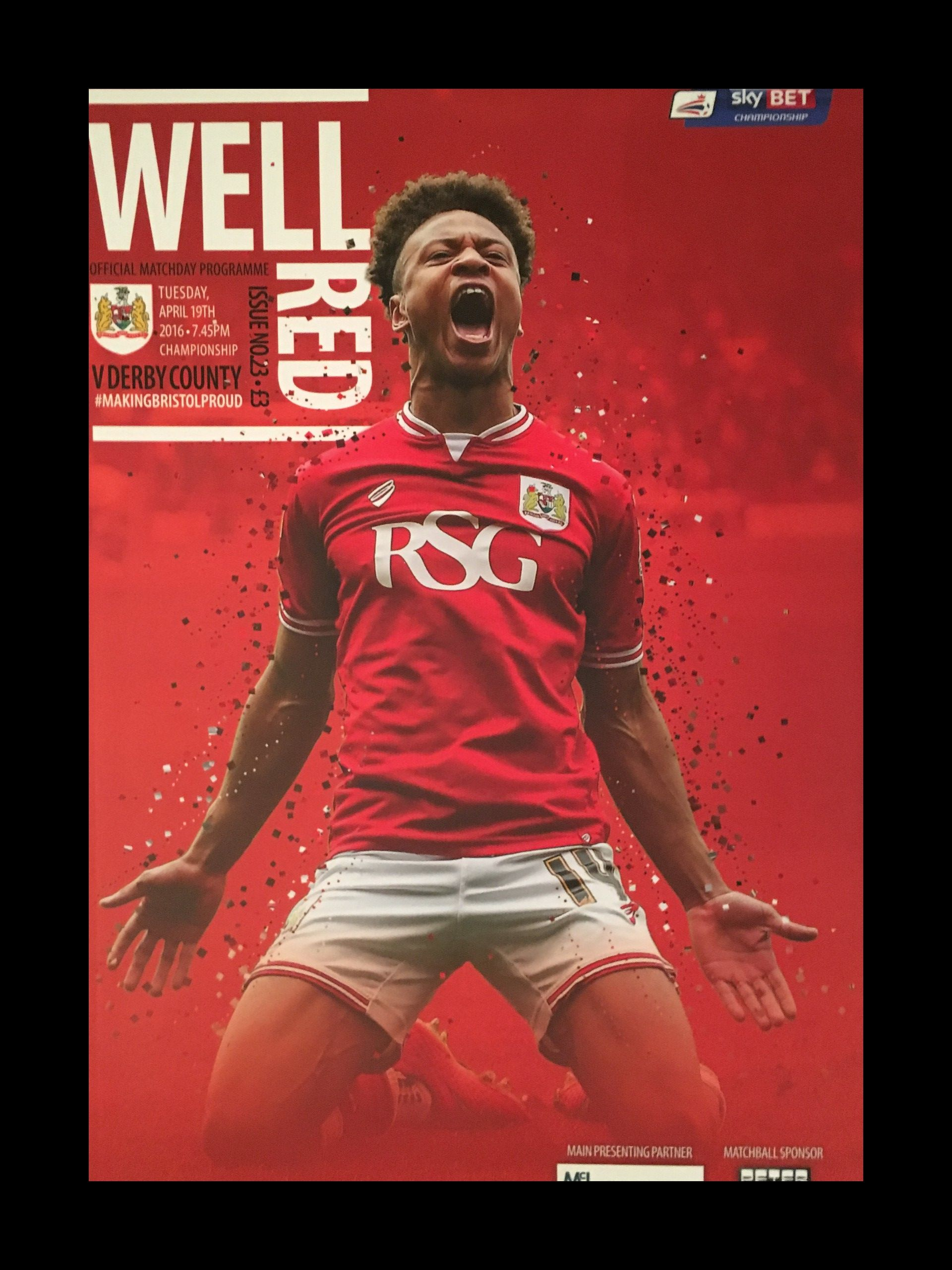 Bristol City v Derby County 19-04-2016 Programme