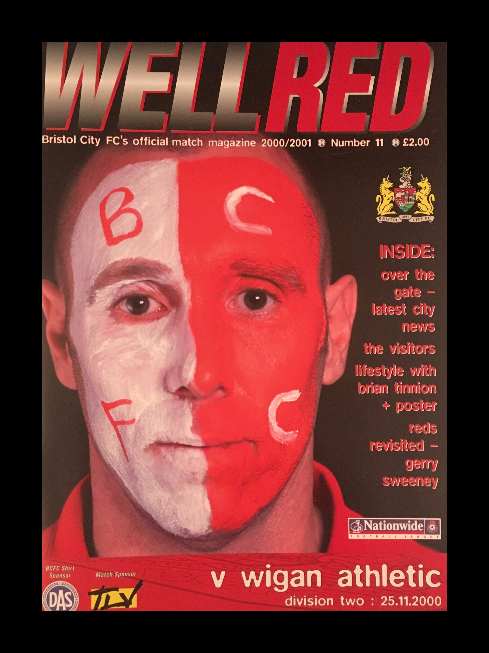 Bristol City v Wigan Athletic 25-11-2000 Programme