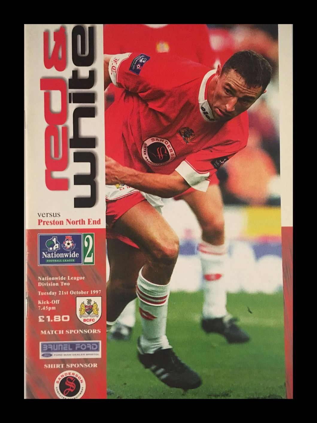 Bristol City v Preston North End 21-10-1997 Programme