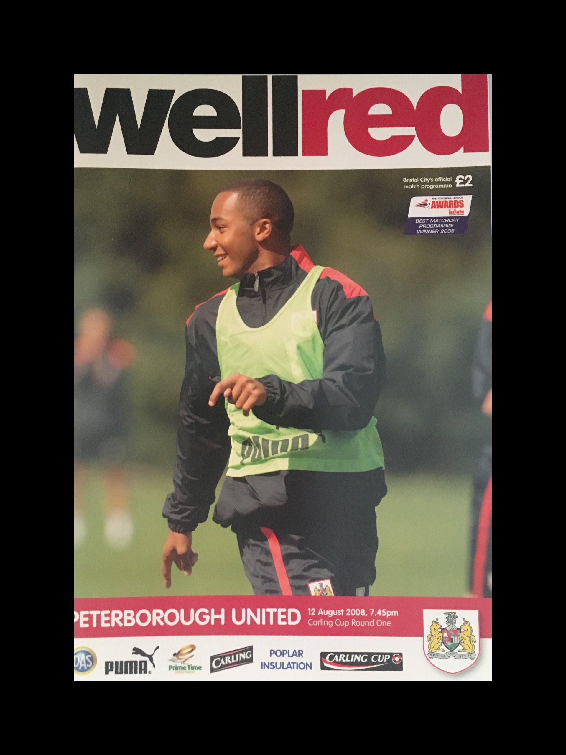 Bristol City v Peterborough United 12-08-2008 Programme